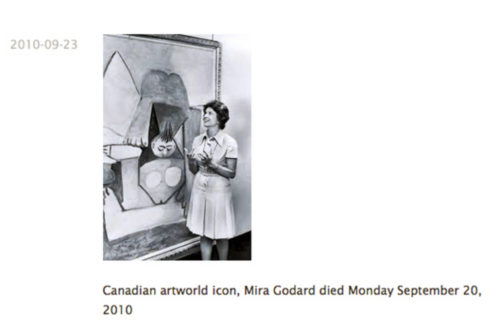 Mira Godard dies