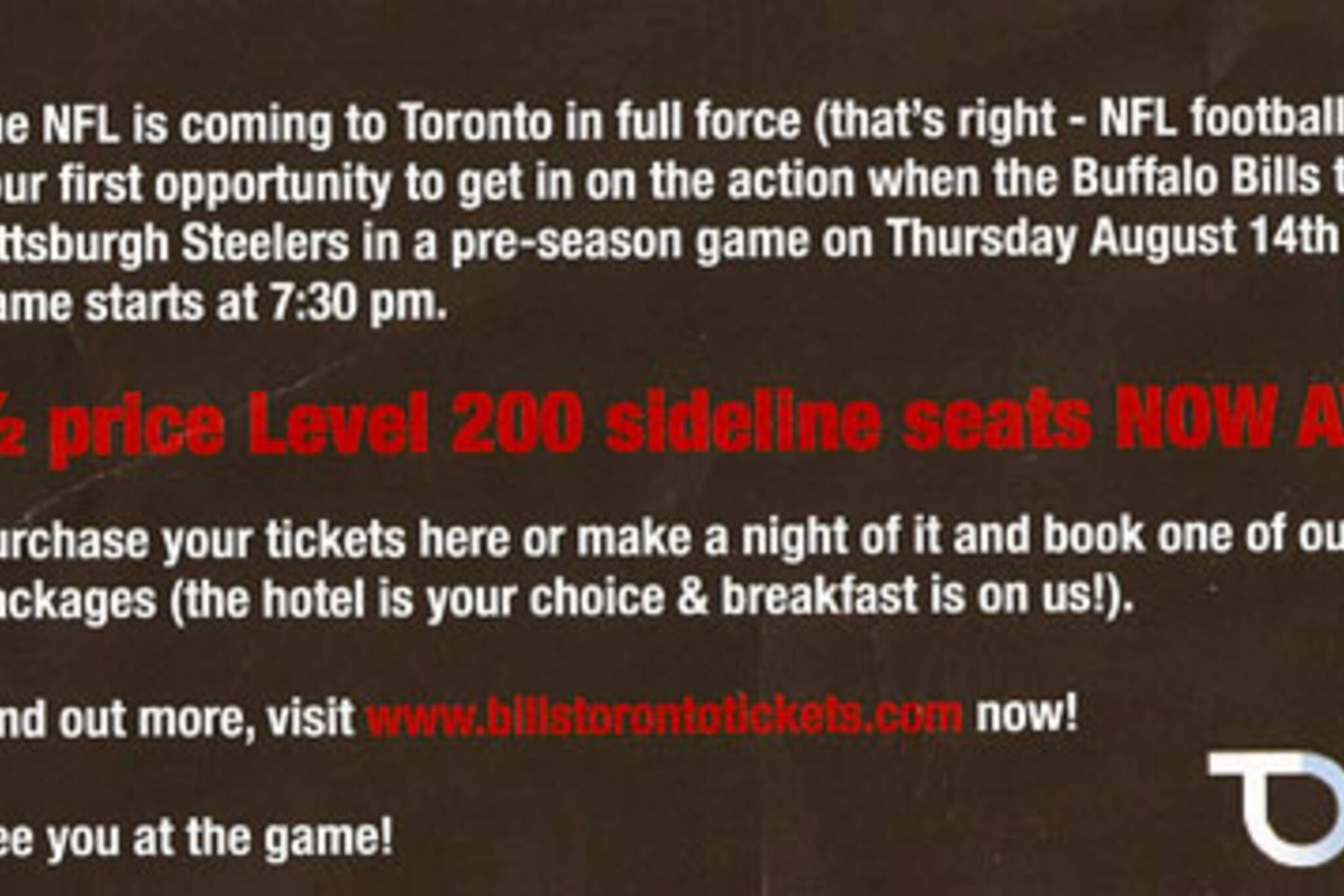 Bills Tickets Toronto