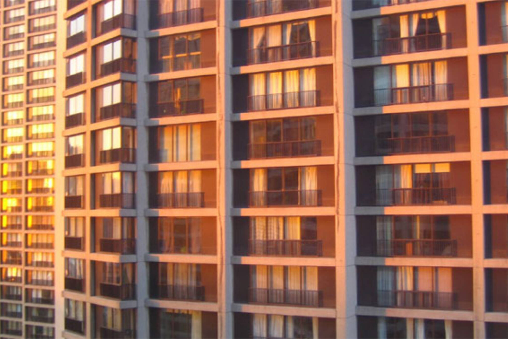 sun on apartment building toronto