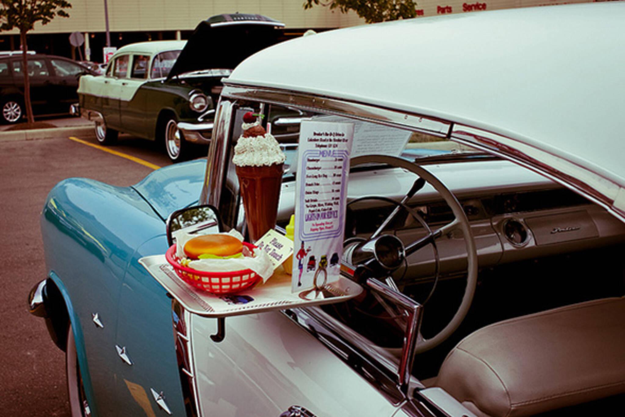 drive, through, lunch