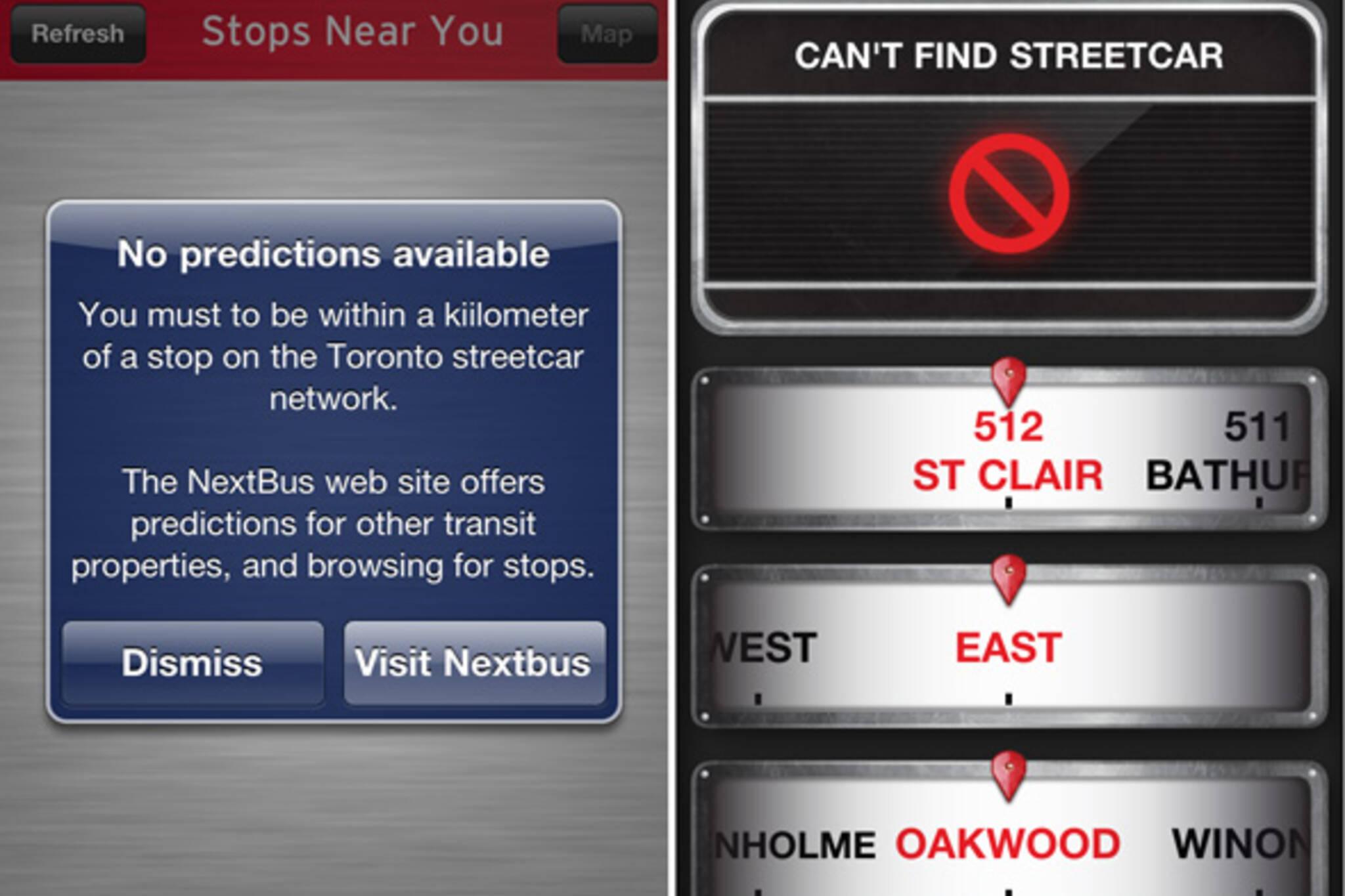 Toronto TTC prediction apps