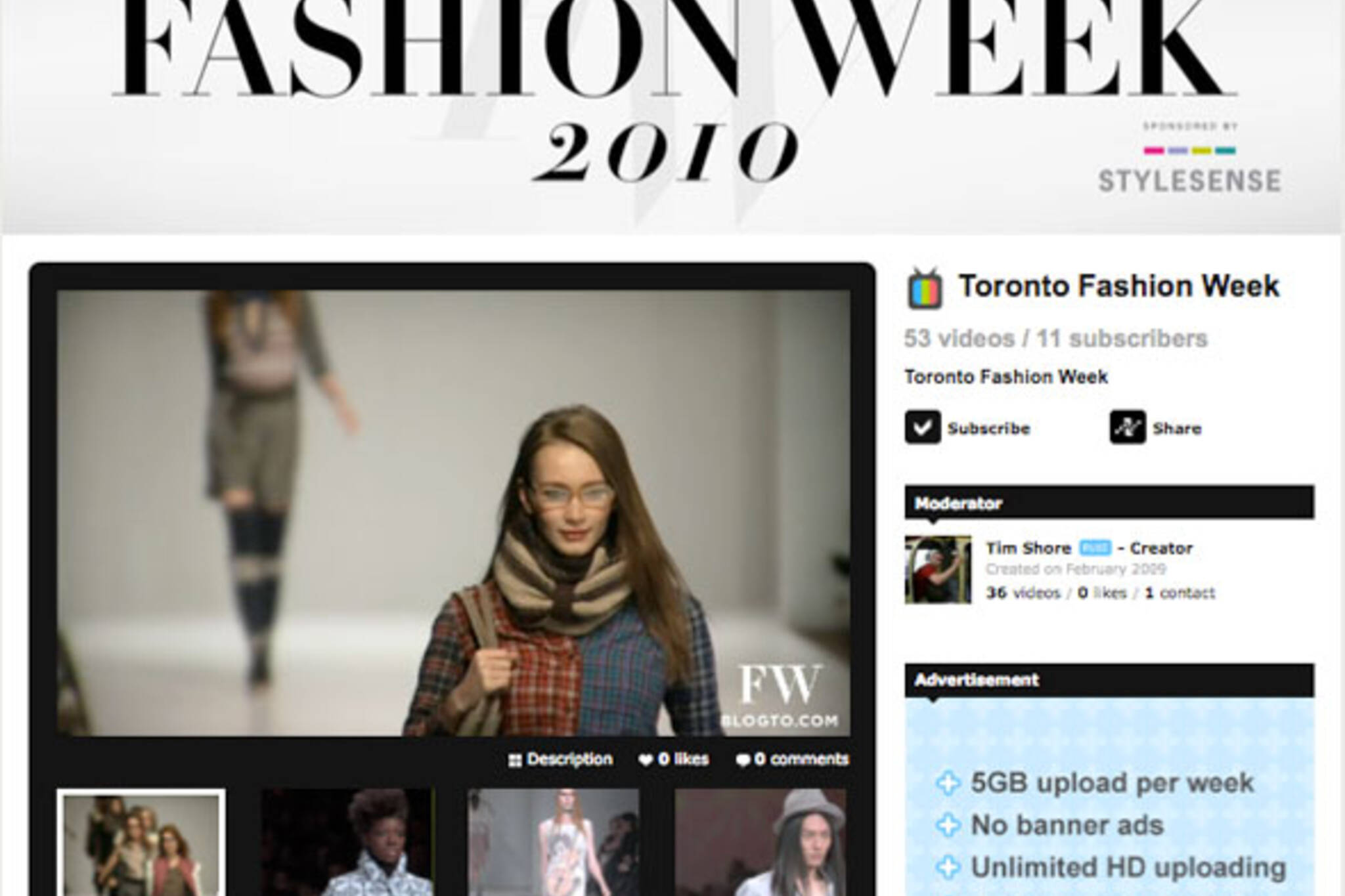 Toronto Fashion Week Videos