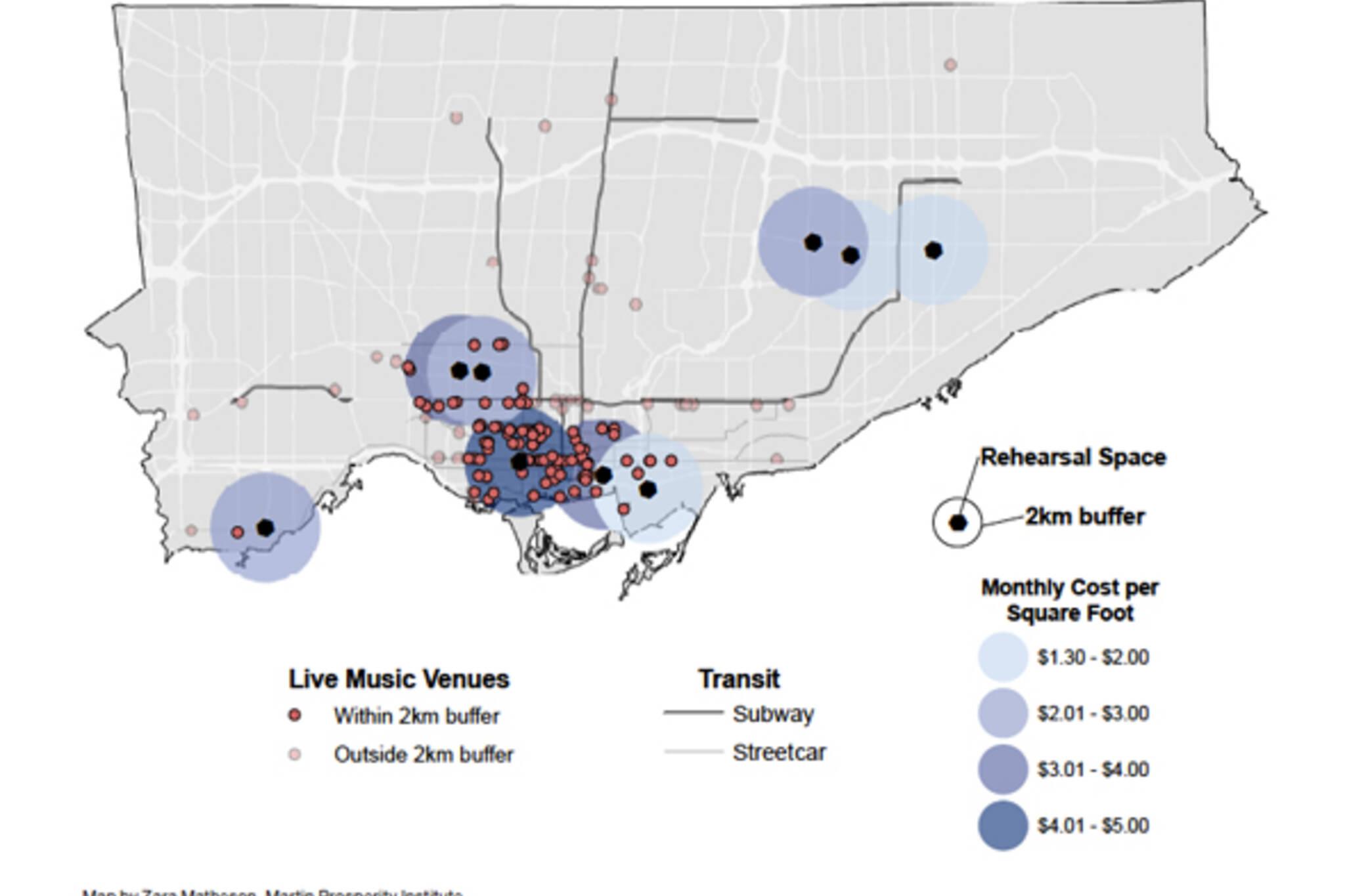 Toronto Music Scene Map