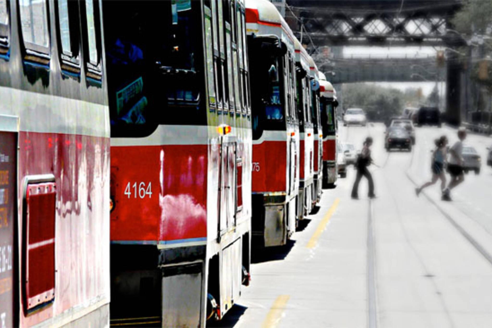 ttc streetcar queue