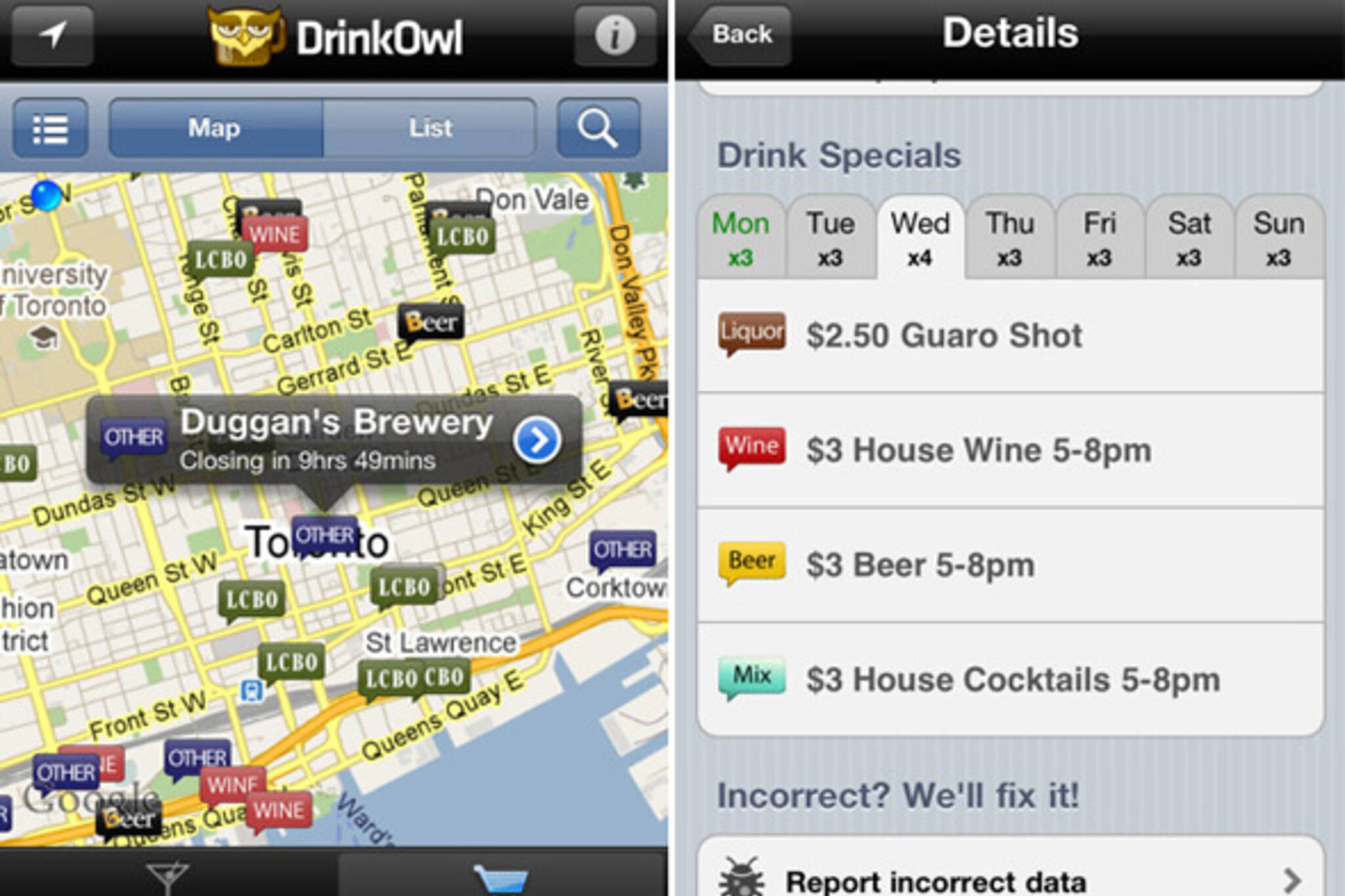DrinkOwl iPhoneApp