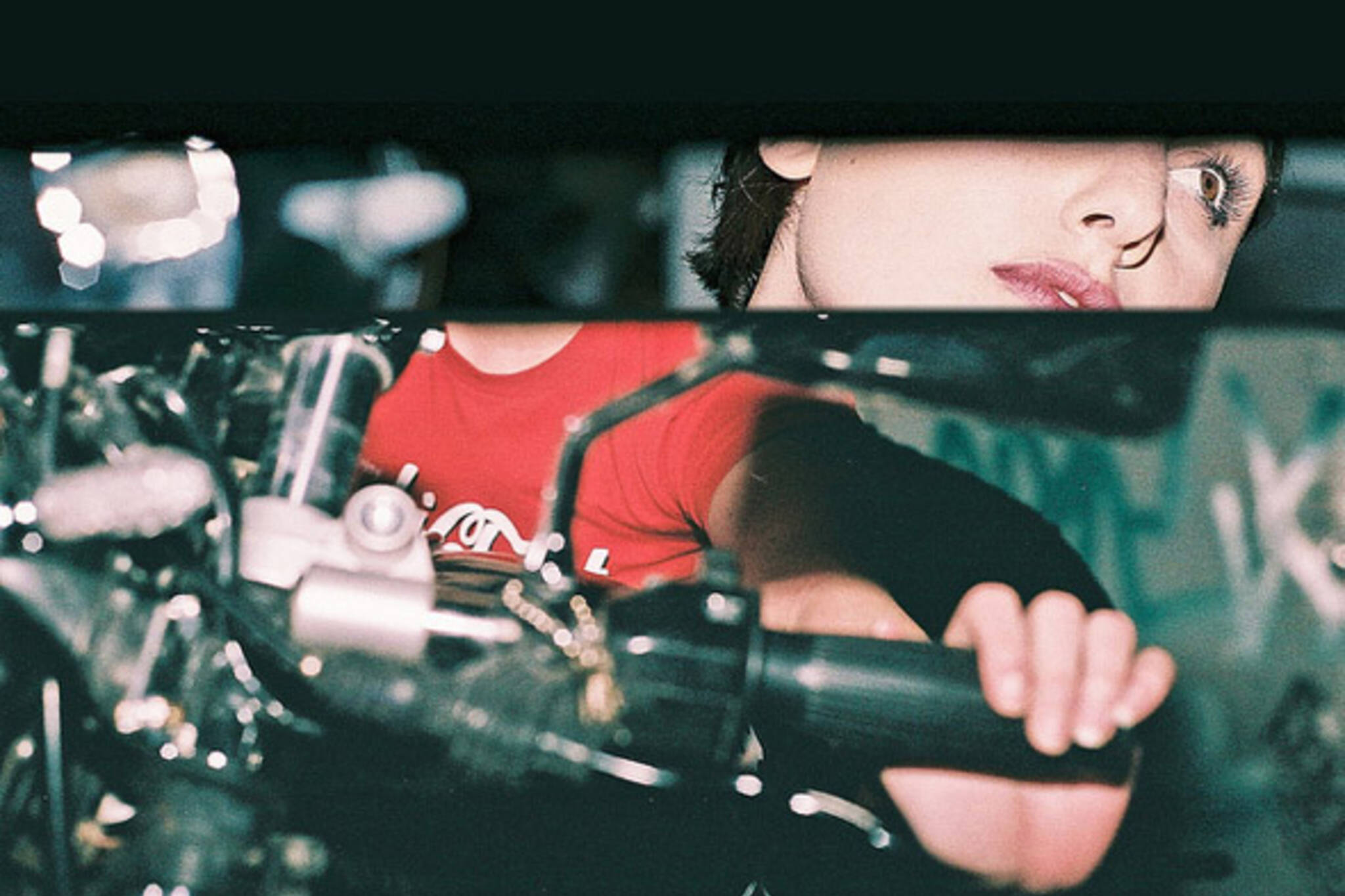 biker, chic, mirror