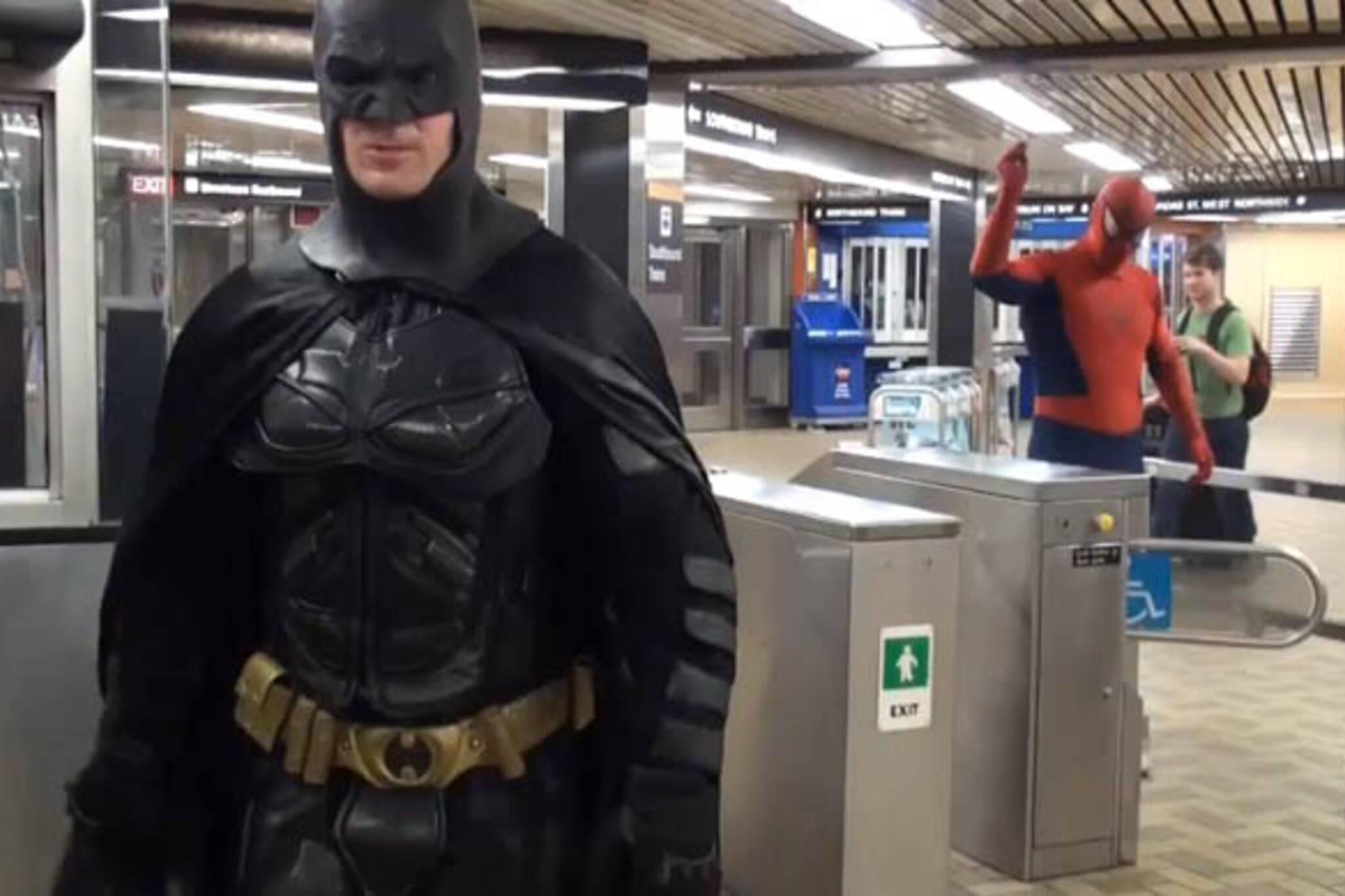 toronto batman spiderman ttc