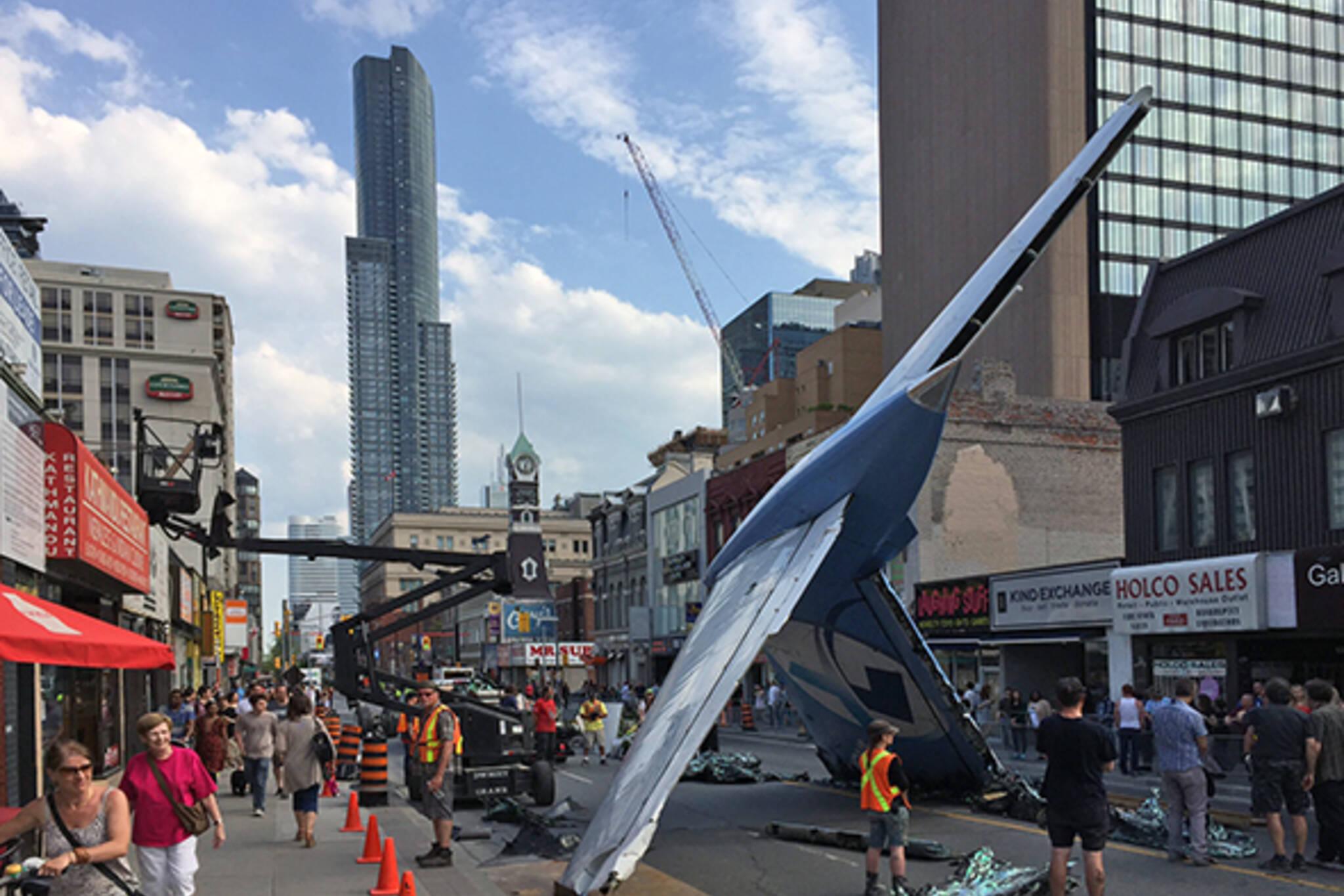 Suicide Squad plane crash Yonge