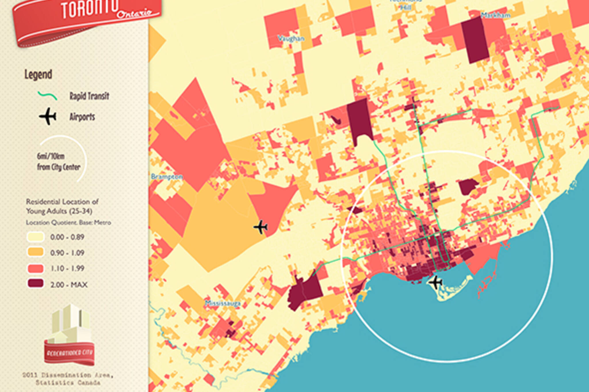 young adults map toronto