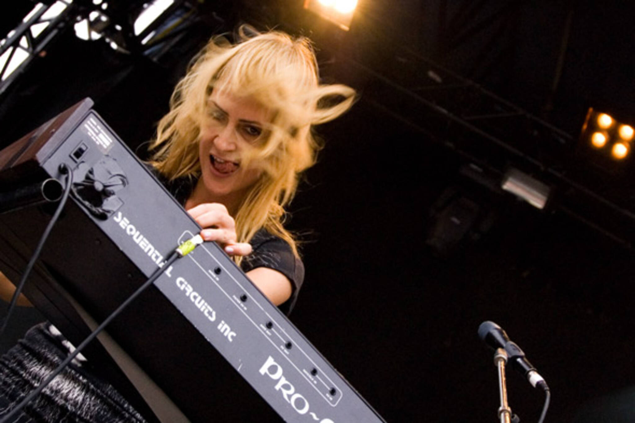 Virgin Fest, Metric's Emily Haines, Photo by Ryan Couldrey