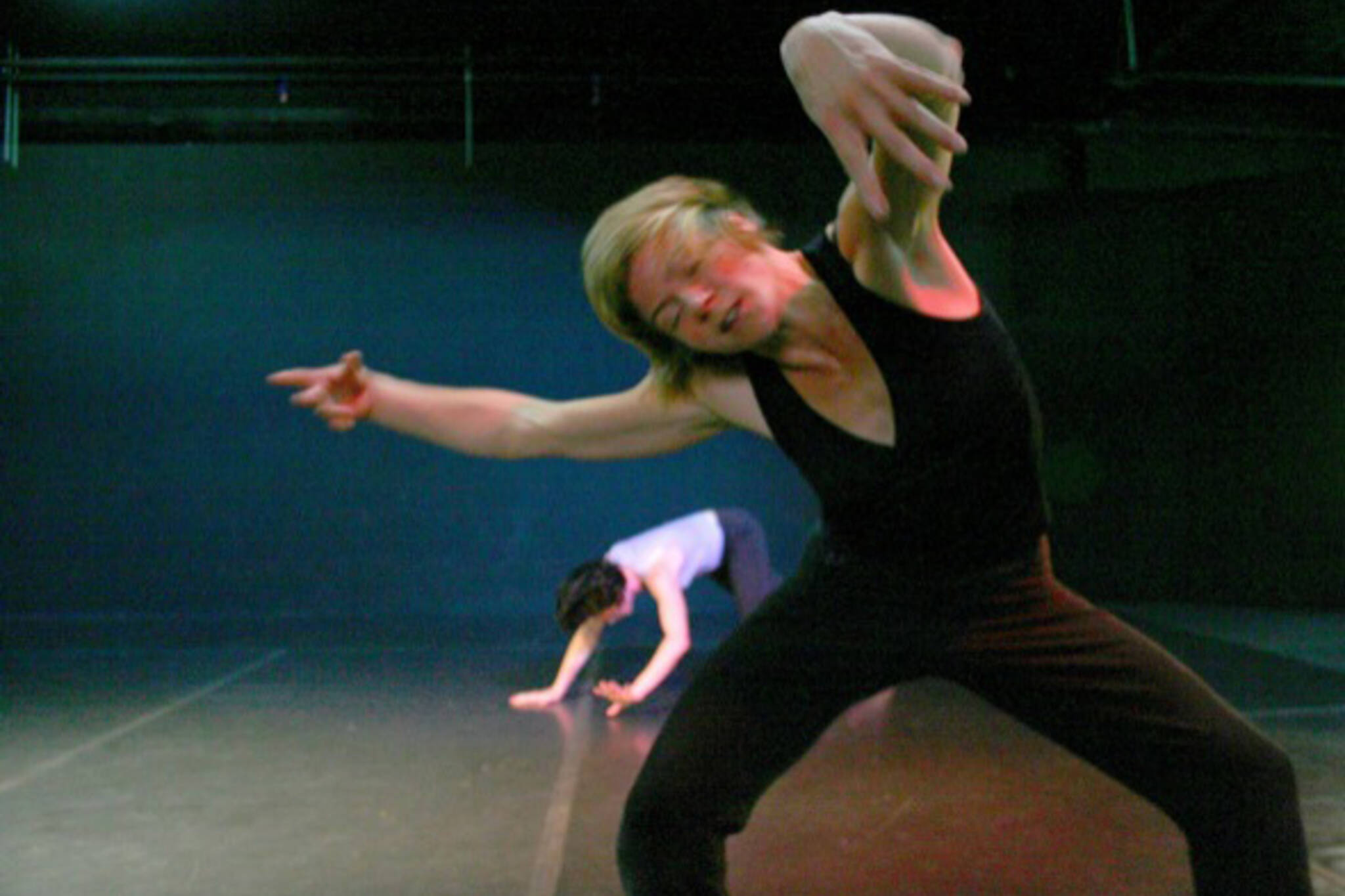 Susie Burpee and Linnea Swan in Rehearsal for Manga