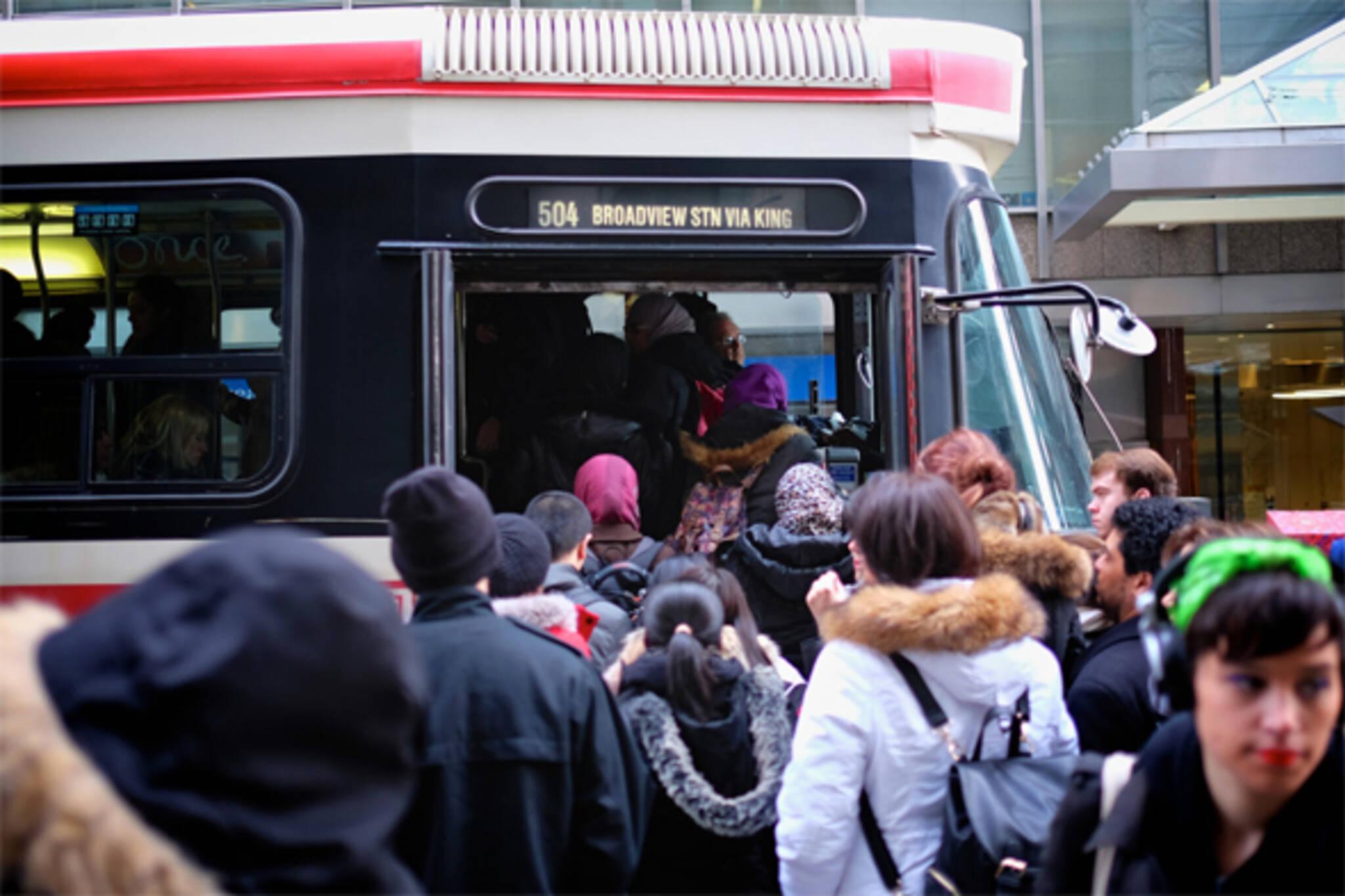 ttc streetcar boarding