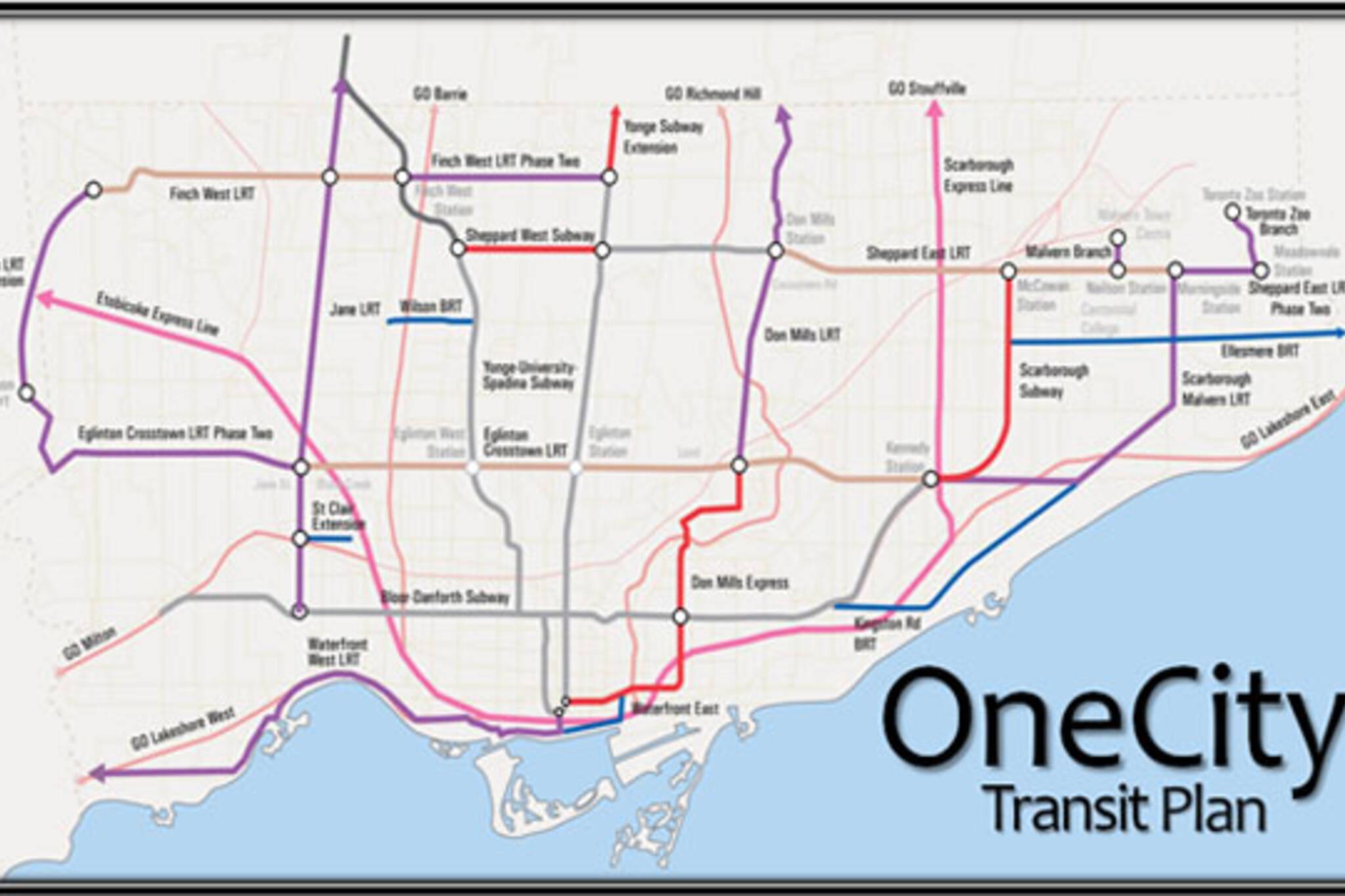 ttc stintz onecity transit map
