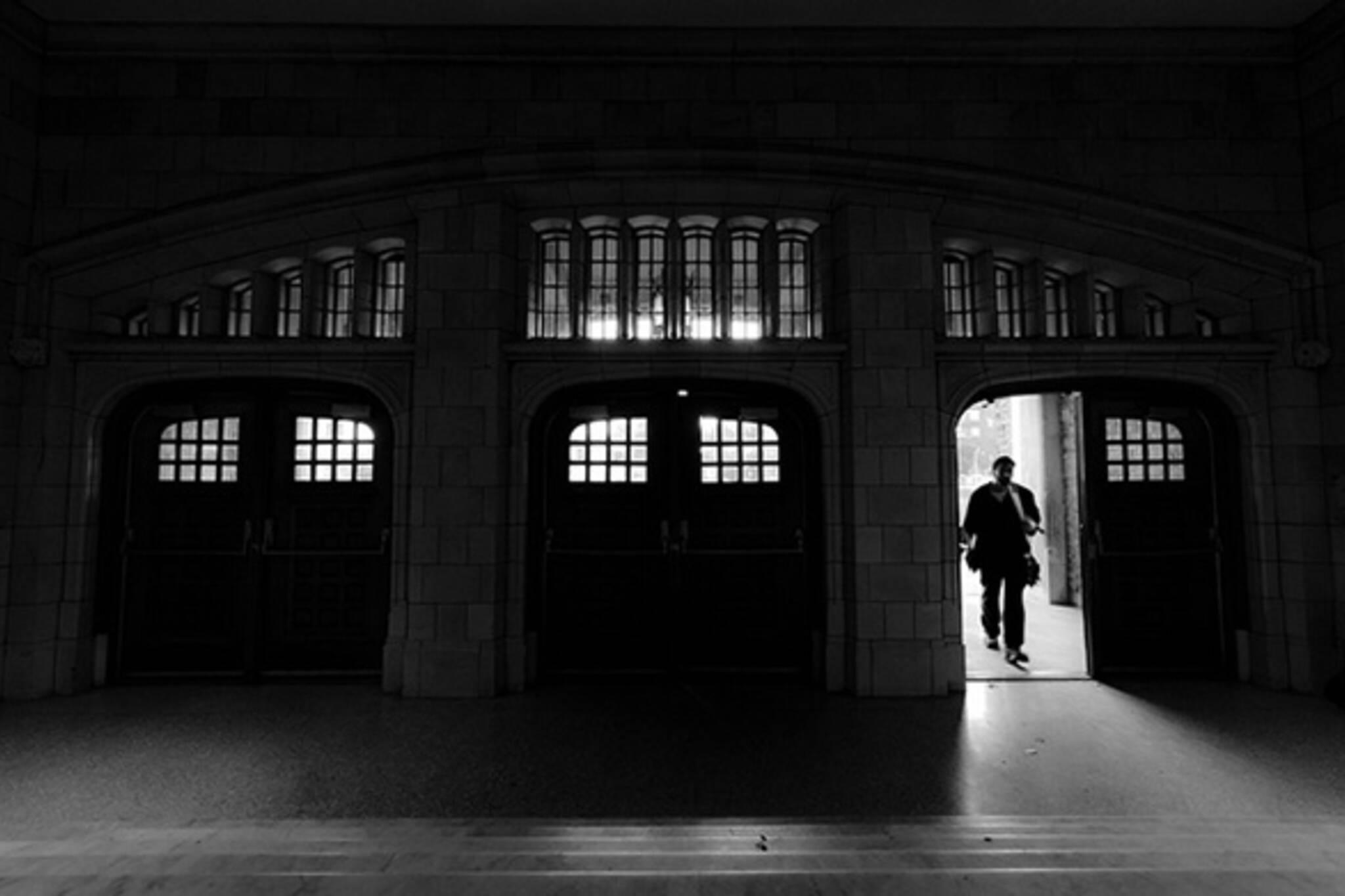doorway, walk, through