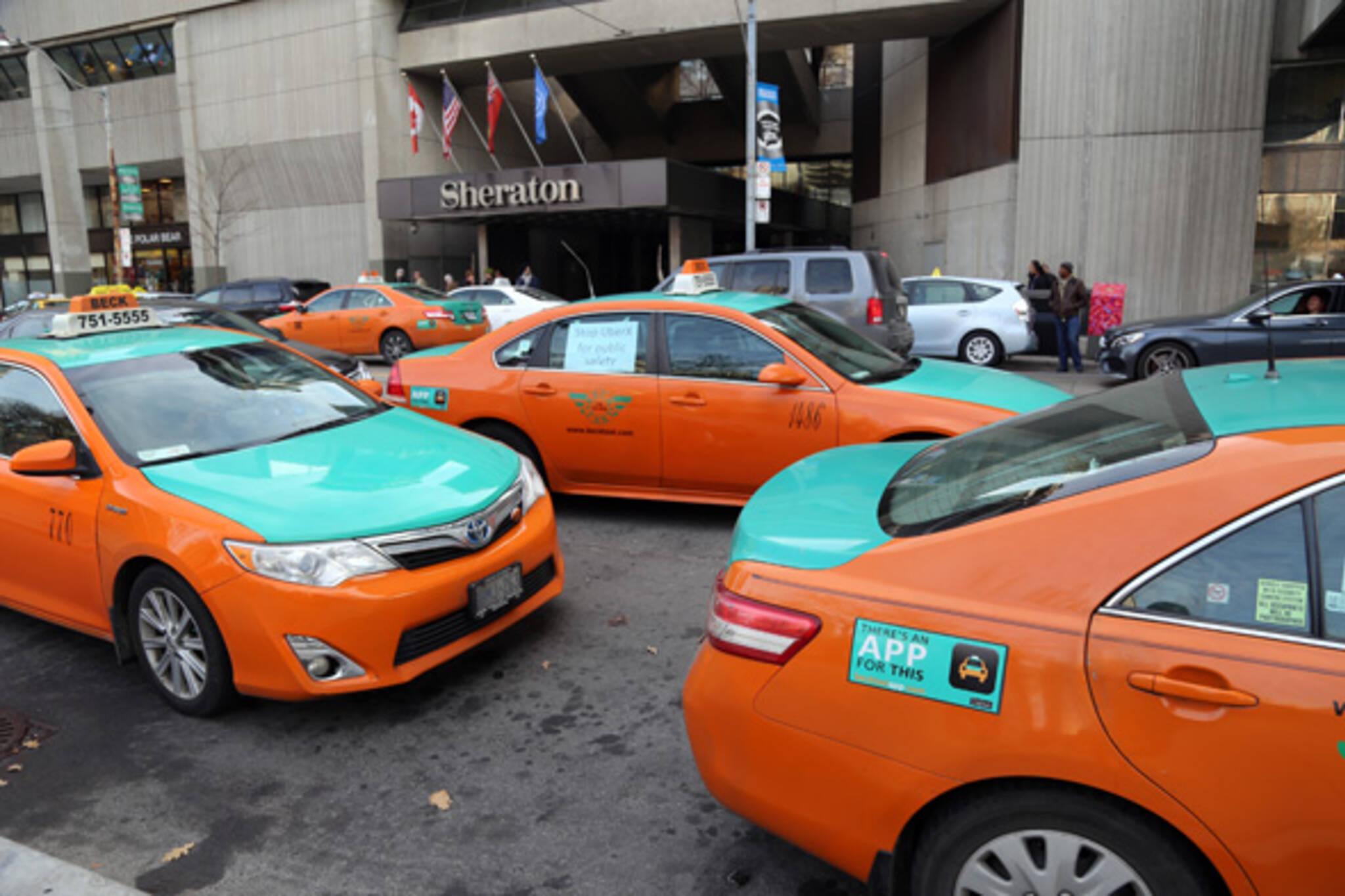 toronto taxi protest
