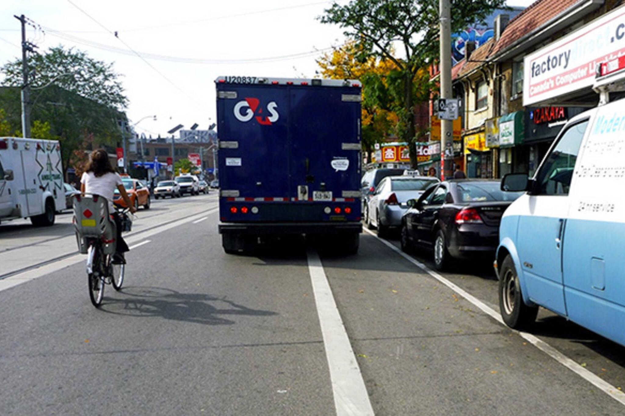 parking bike lane toronto