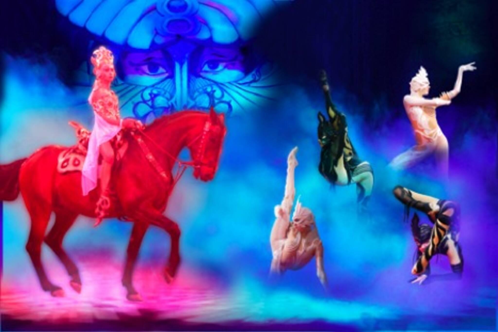 Cirque Niagara's Avaia Rides at Woodbine