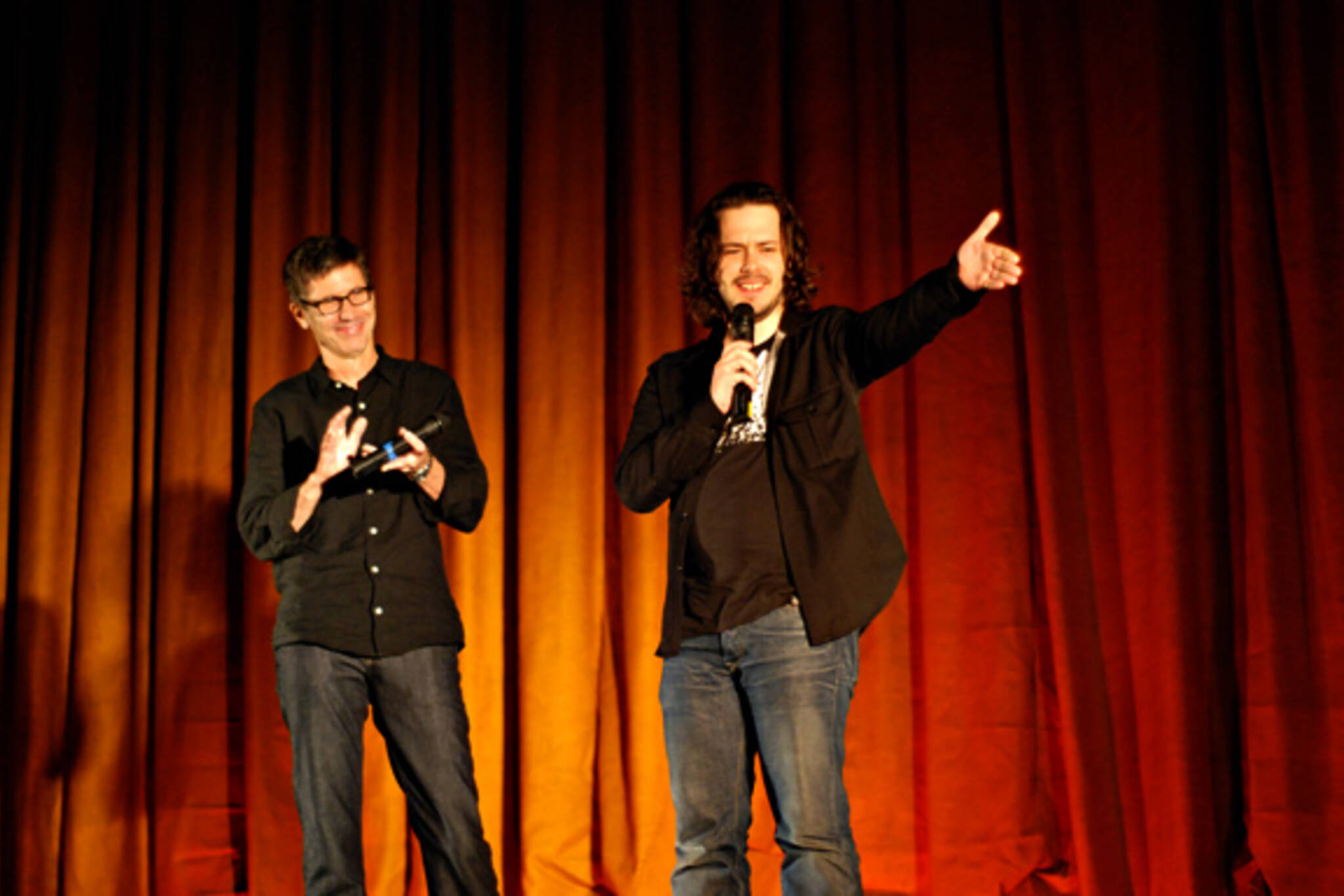 Edgar Wright and Bill Pope