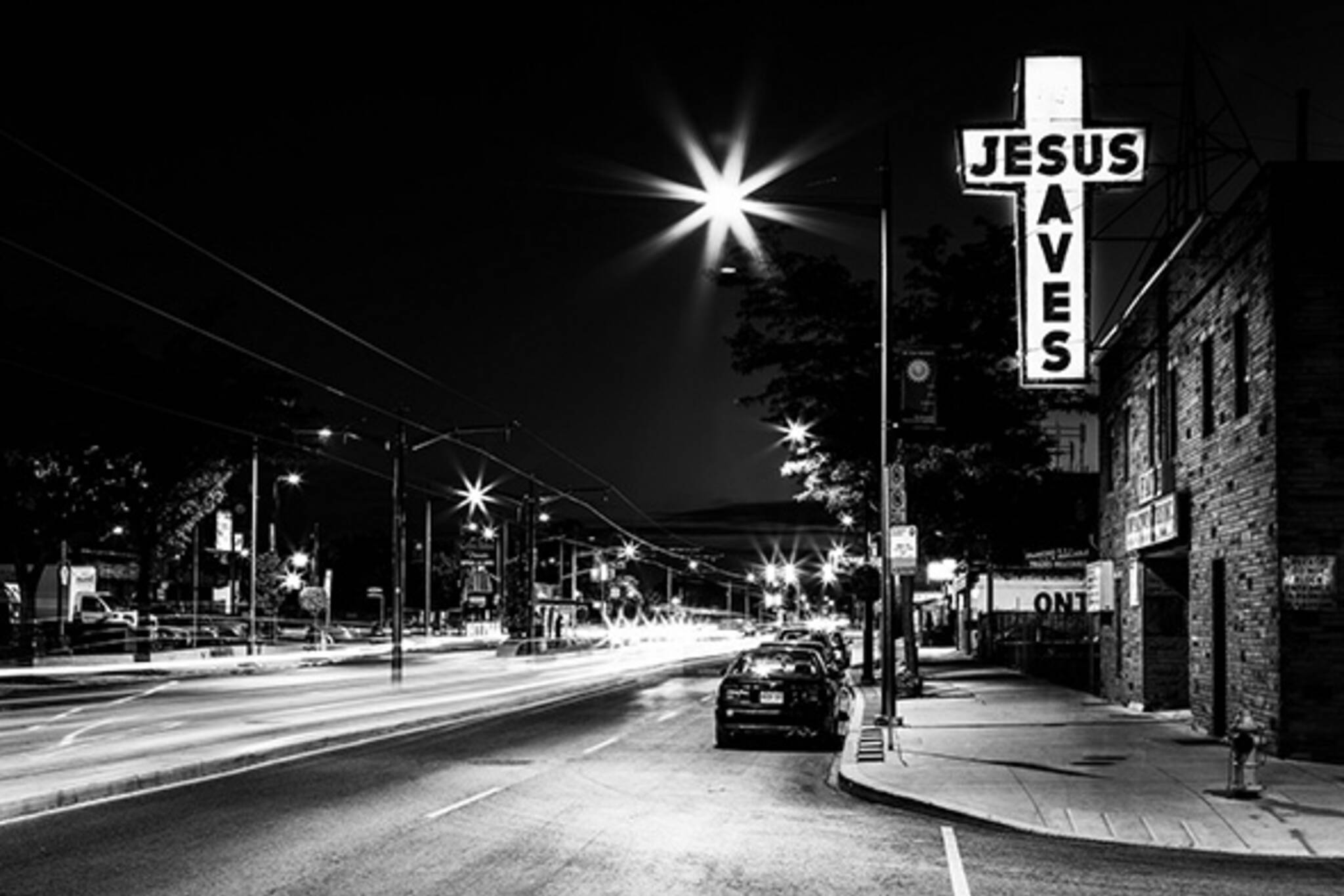 Jesus Saves sign