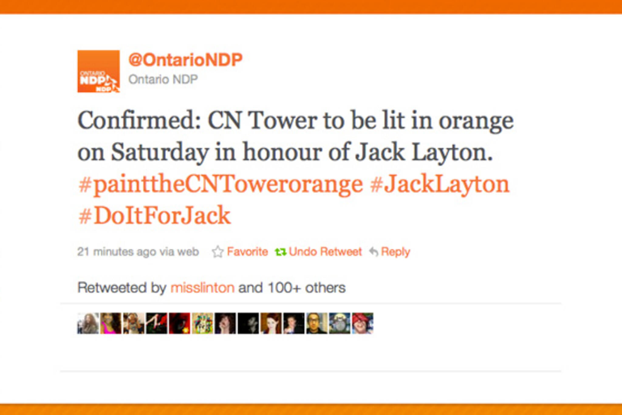 CN Tower Orange Layton