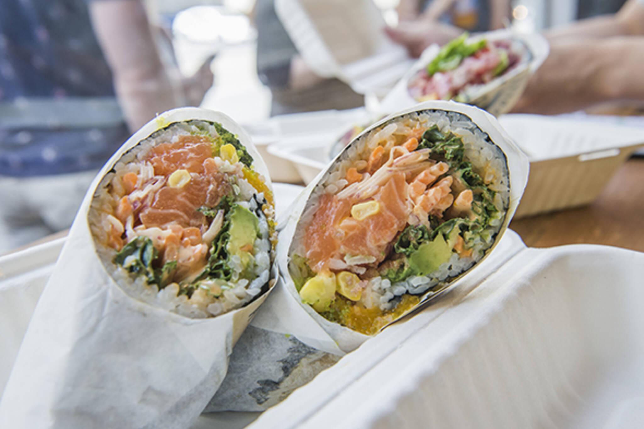 free sushi burritos