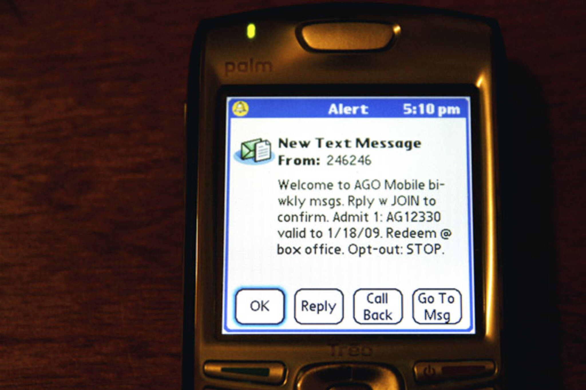 AGO offers free admission via text messaging