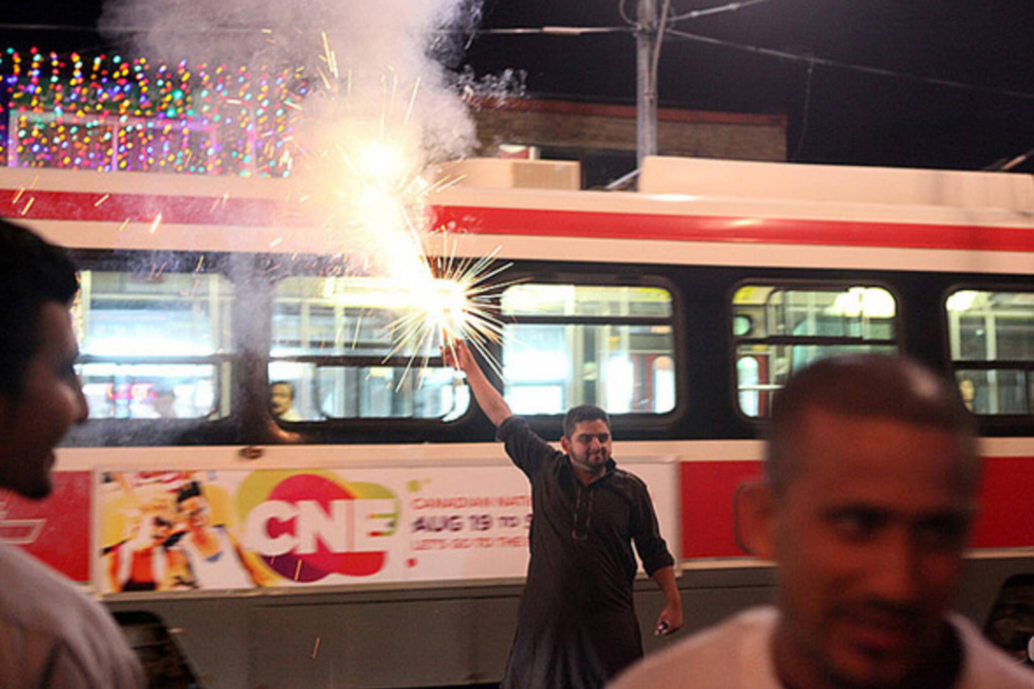 eid, fireworks, toronto