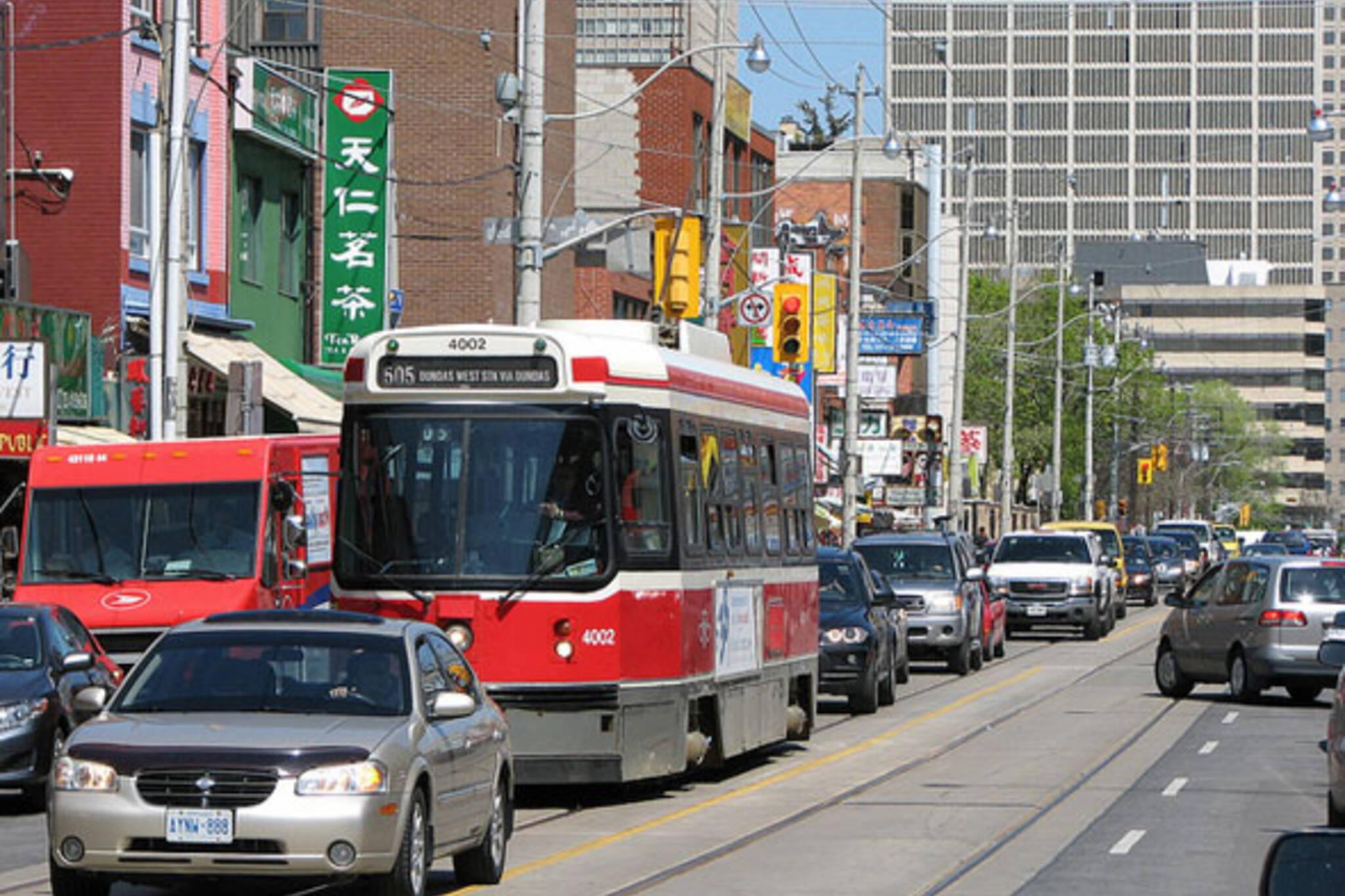 ttc streetcar traffic