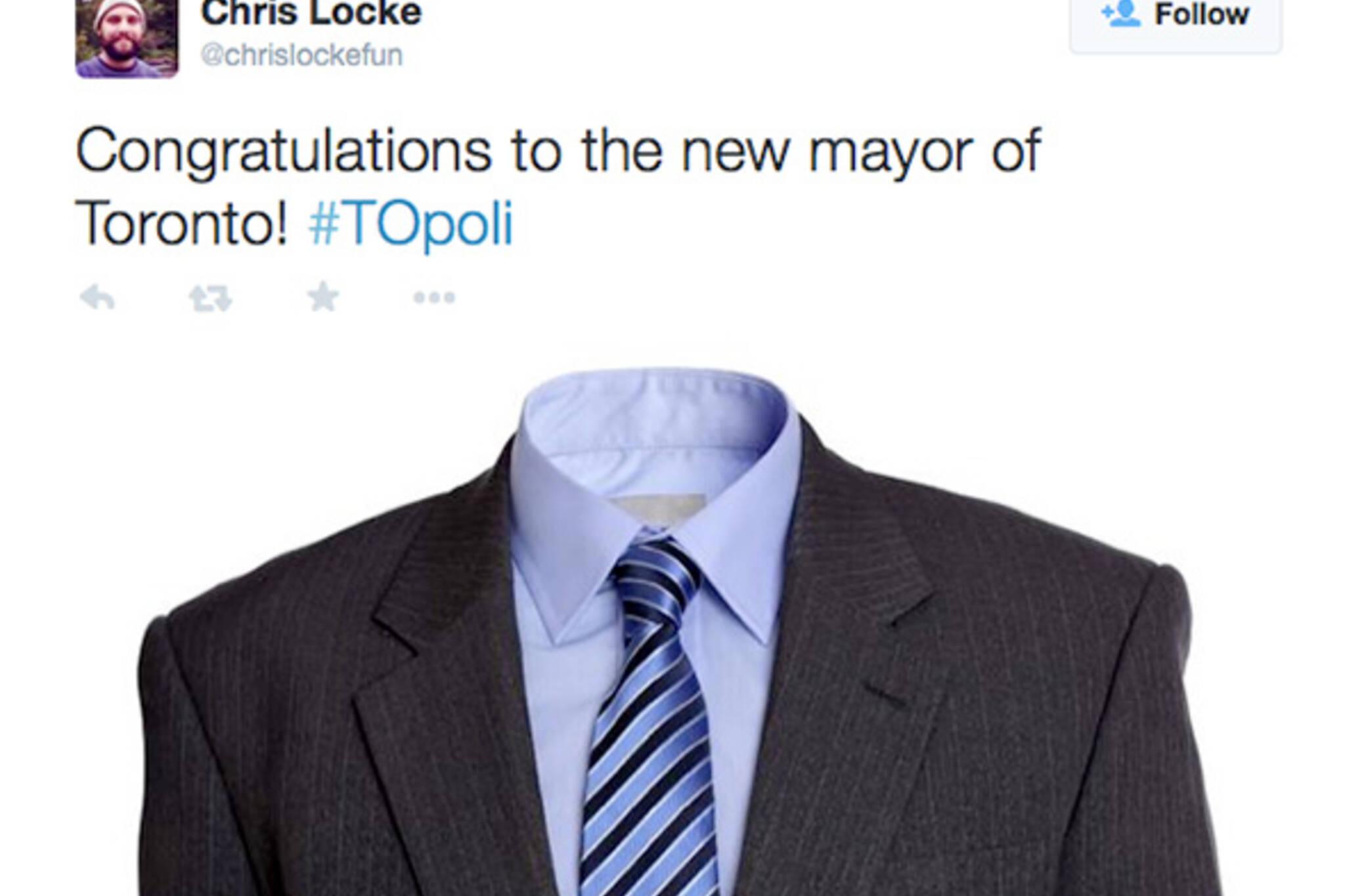 Twitter Toronto election