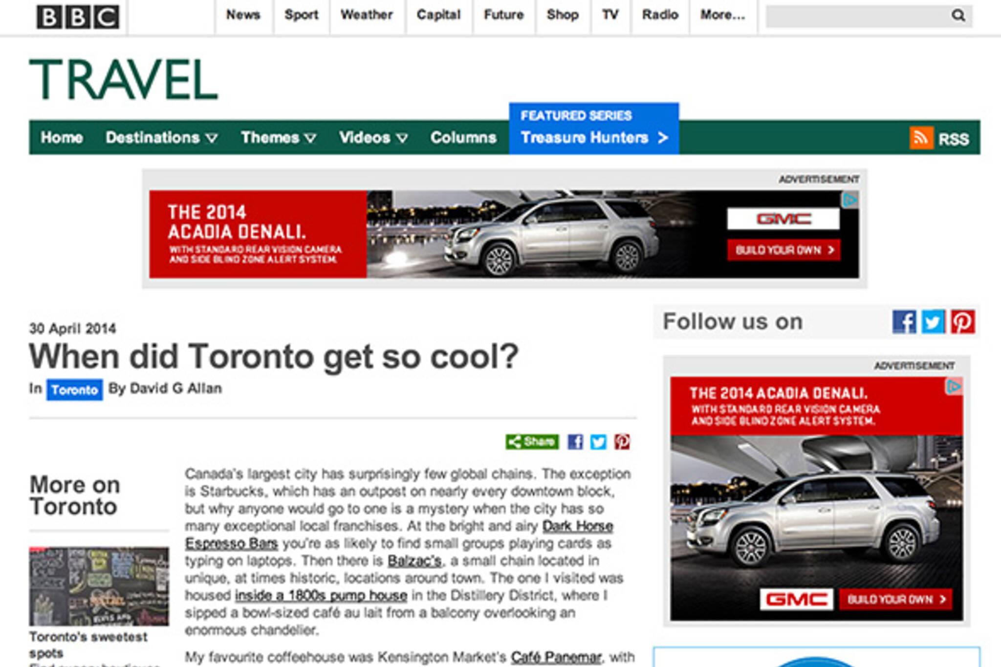 BBC Toronto cool