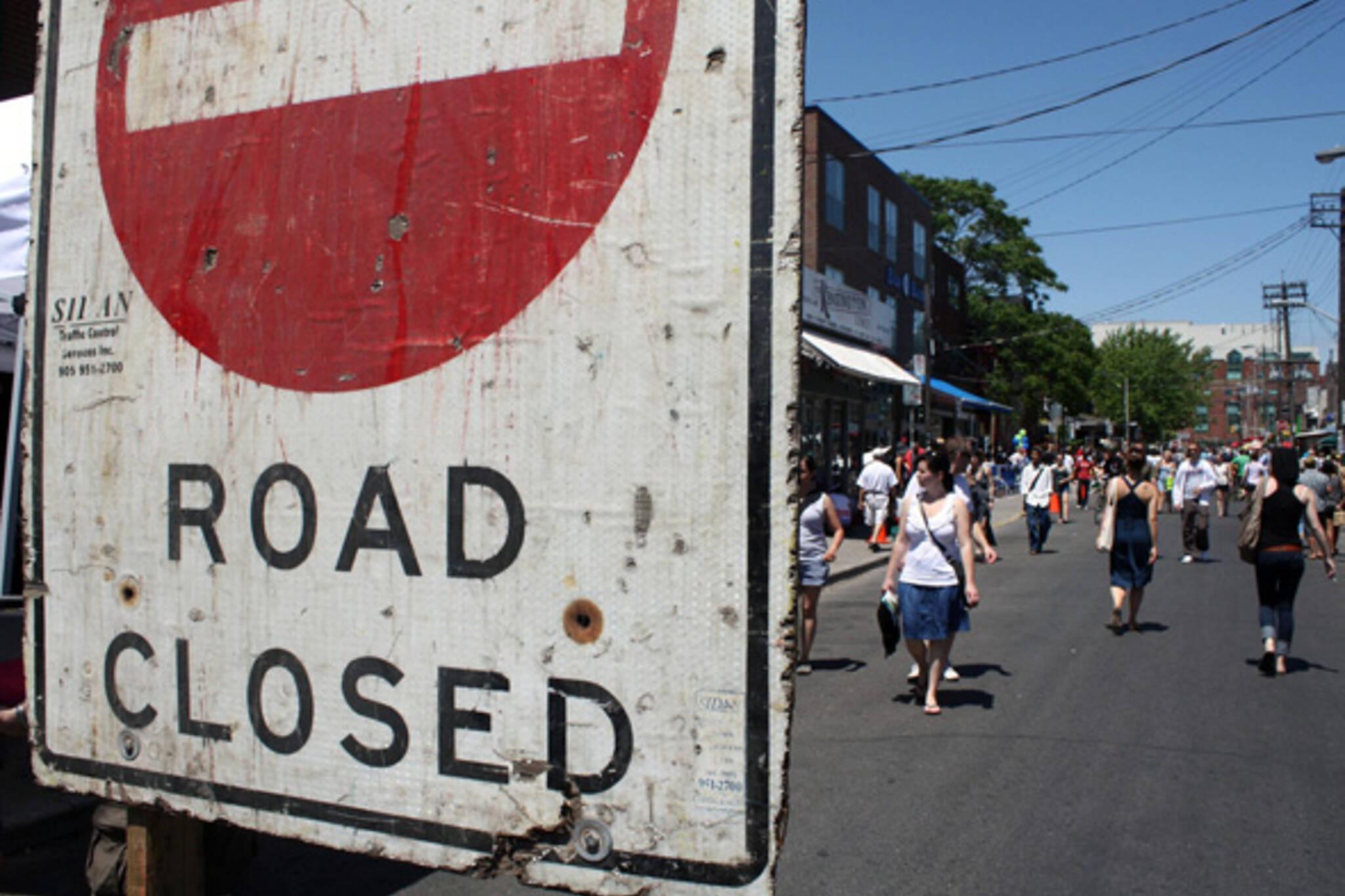 Pedestrian Sunday Kensington Market