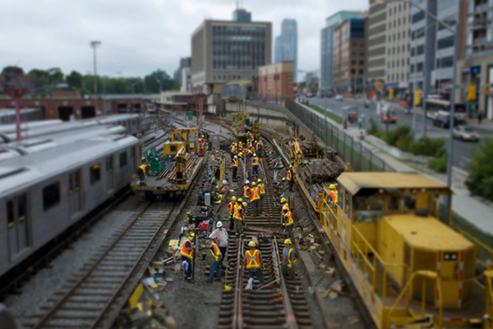 TTC track work