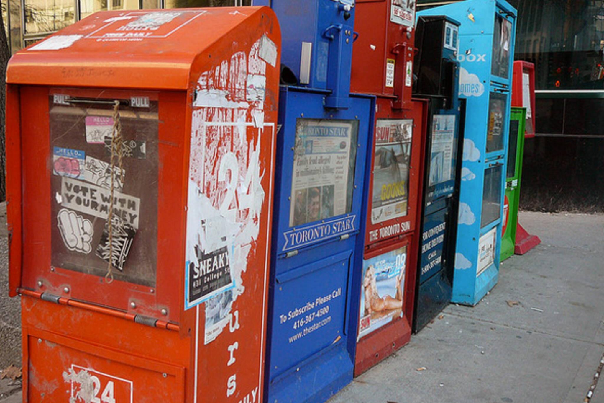 24 Hours Newspaper Box