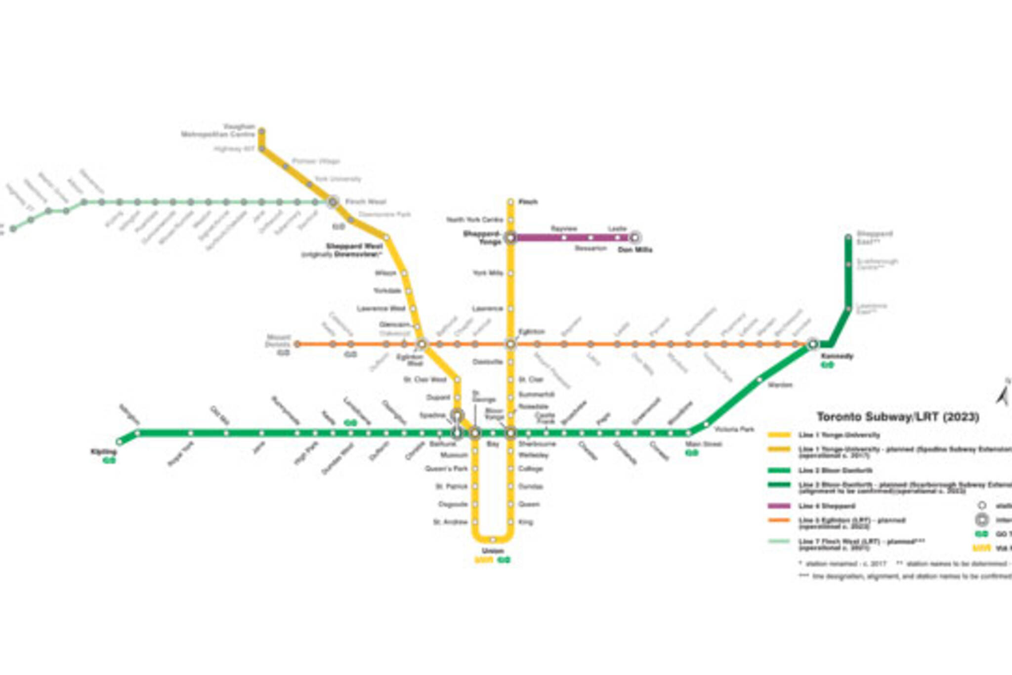 Ttc Subway Map 2025.This Is What The Ttc Map Will Look Like In 2025