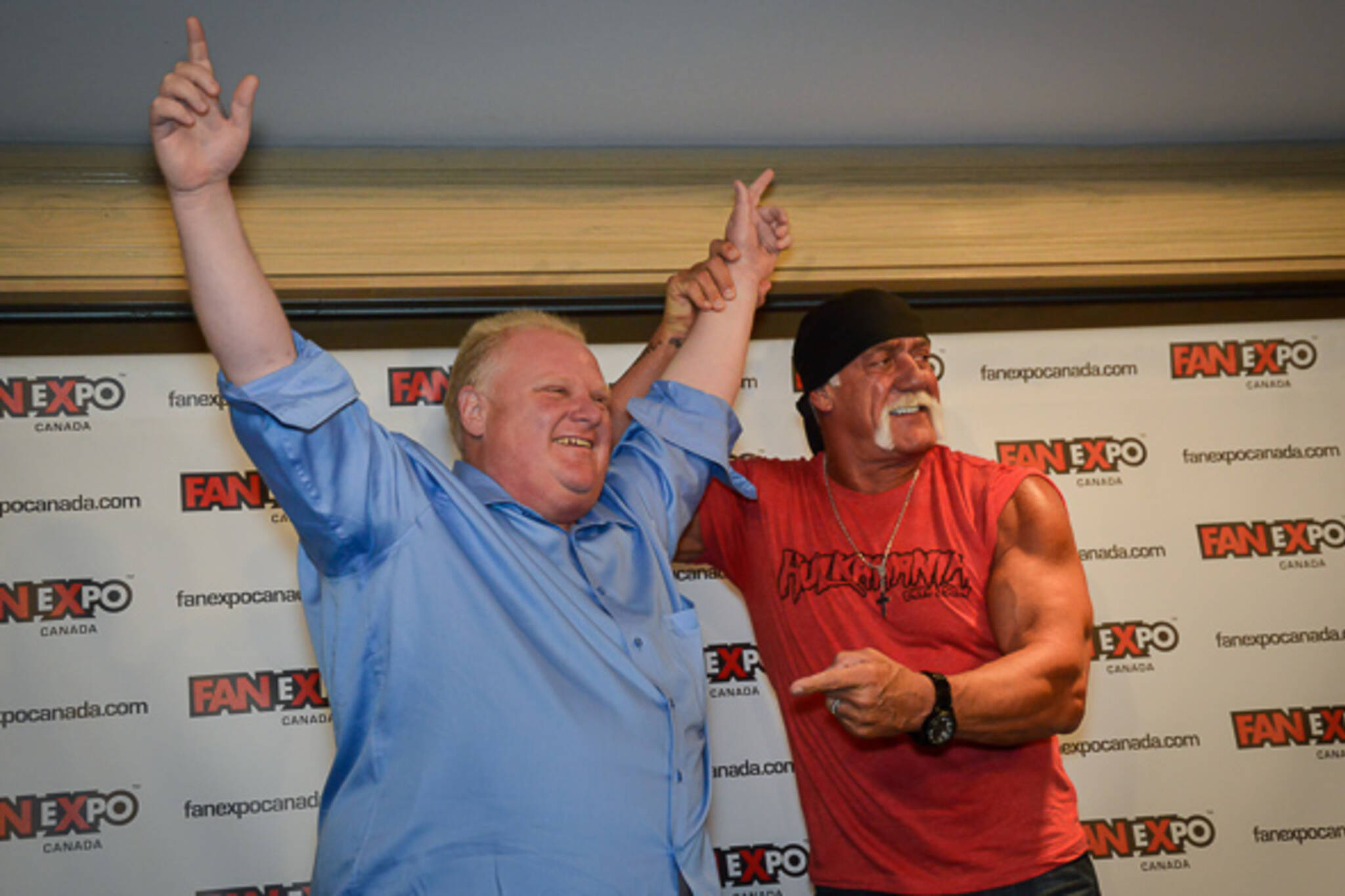 Rob Ford Arm Wrestling Hulk Hogan