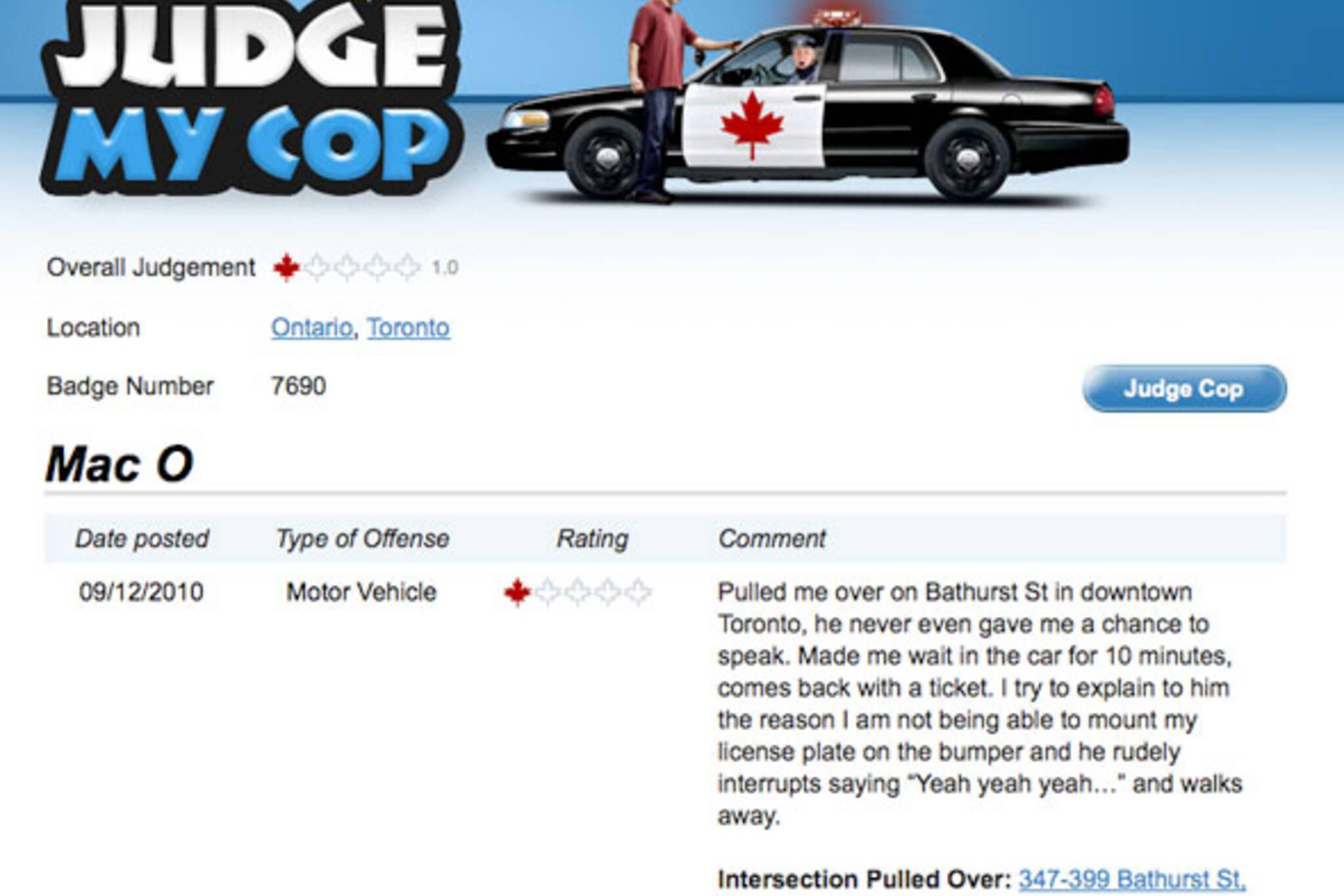 Judge my Cop