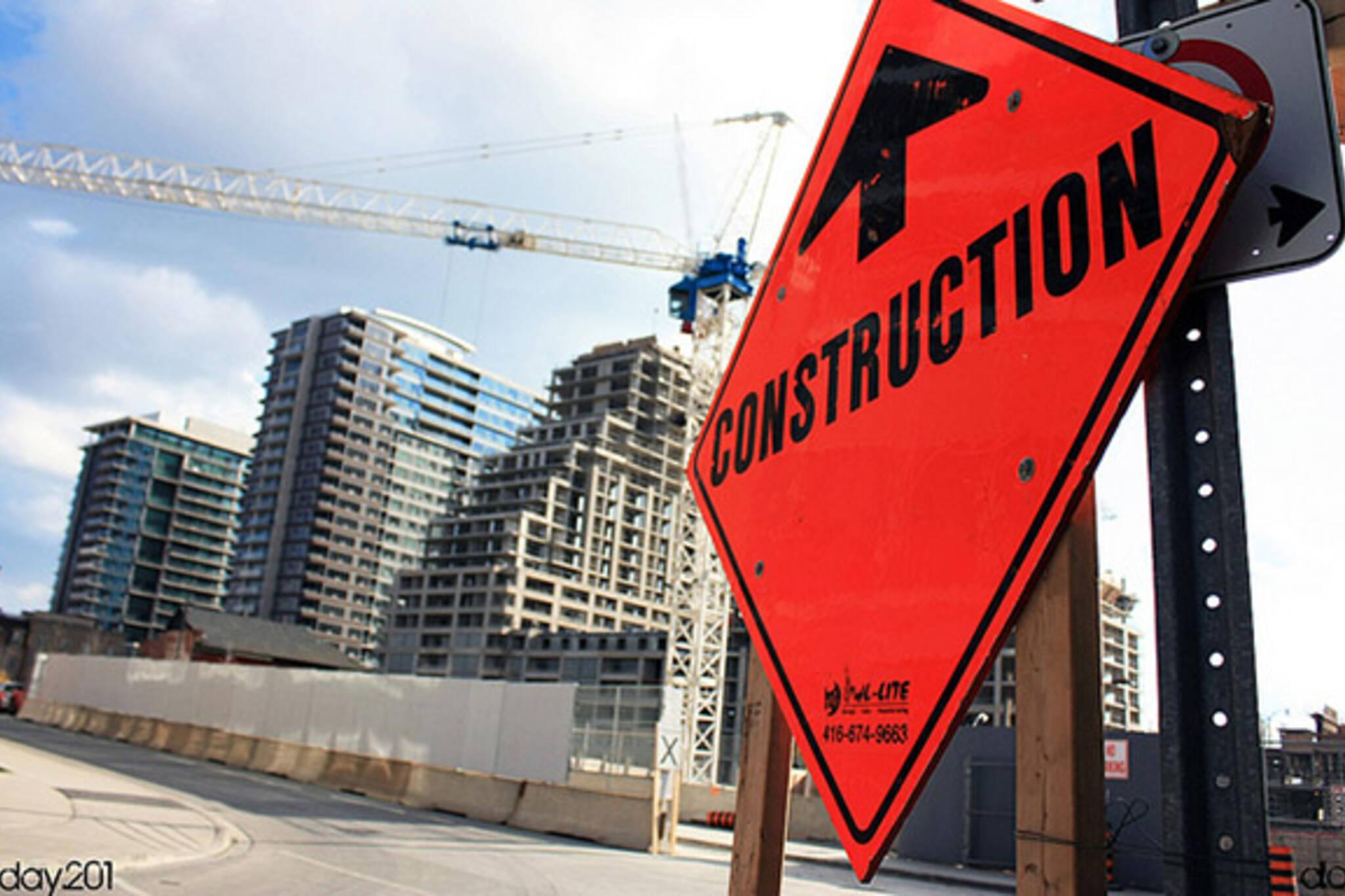 construction, orange, worker