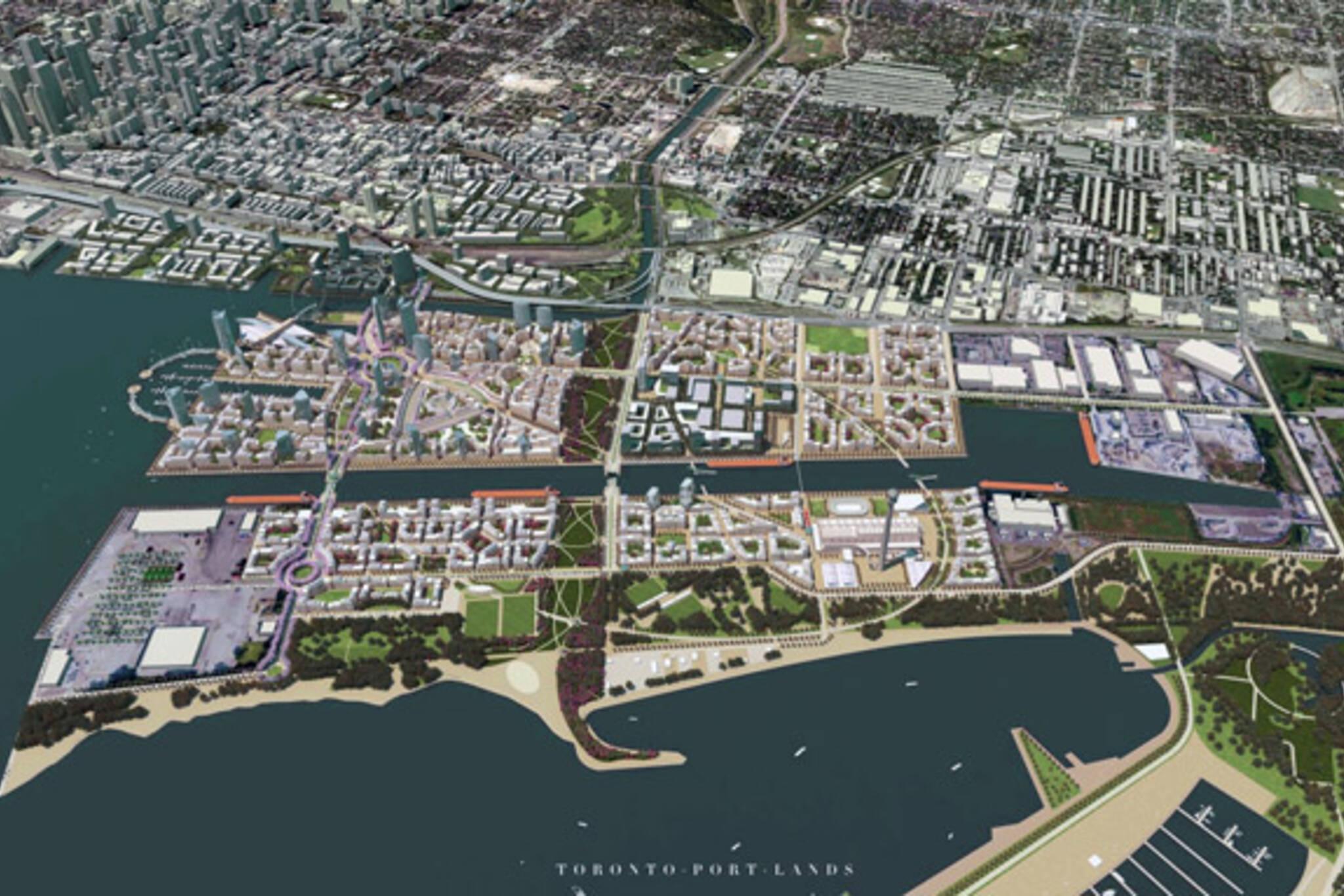 Toronto Port Lands vision Doug Rob Ford