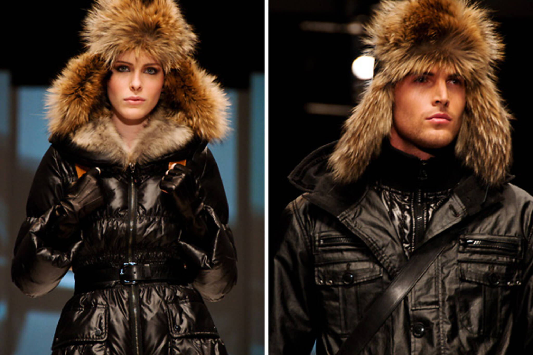 Fur leather fashion week