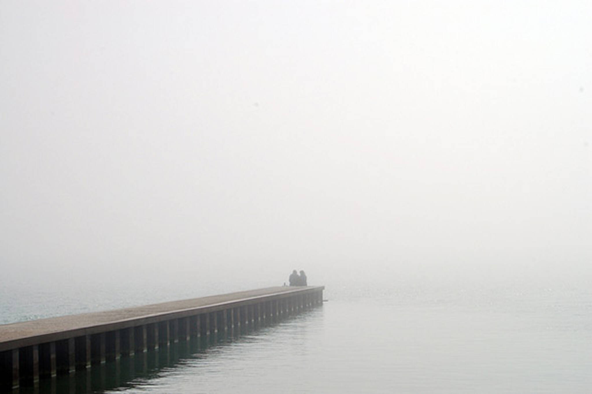lovers in the fog