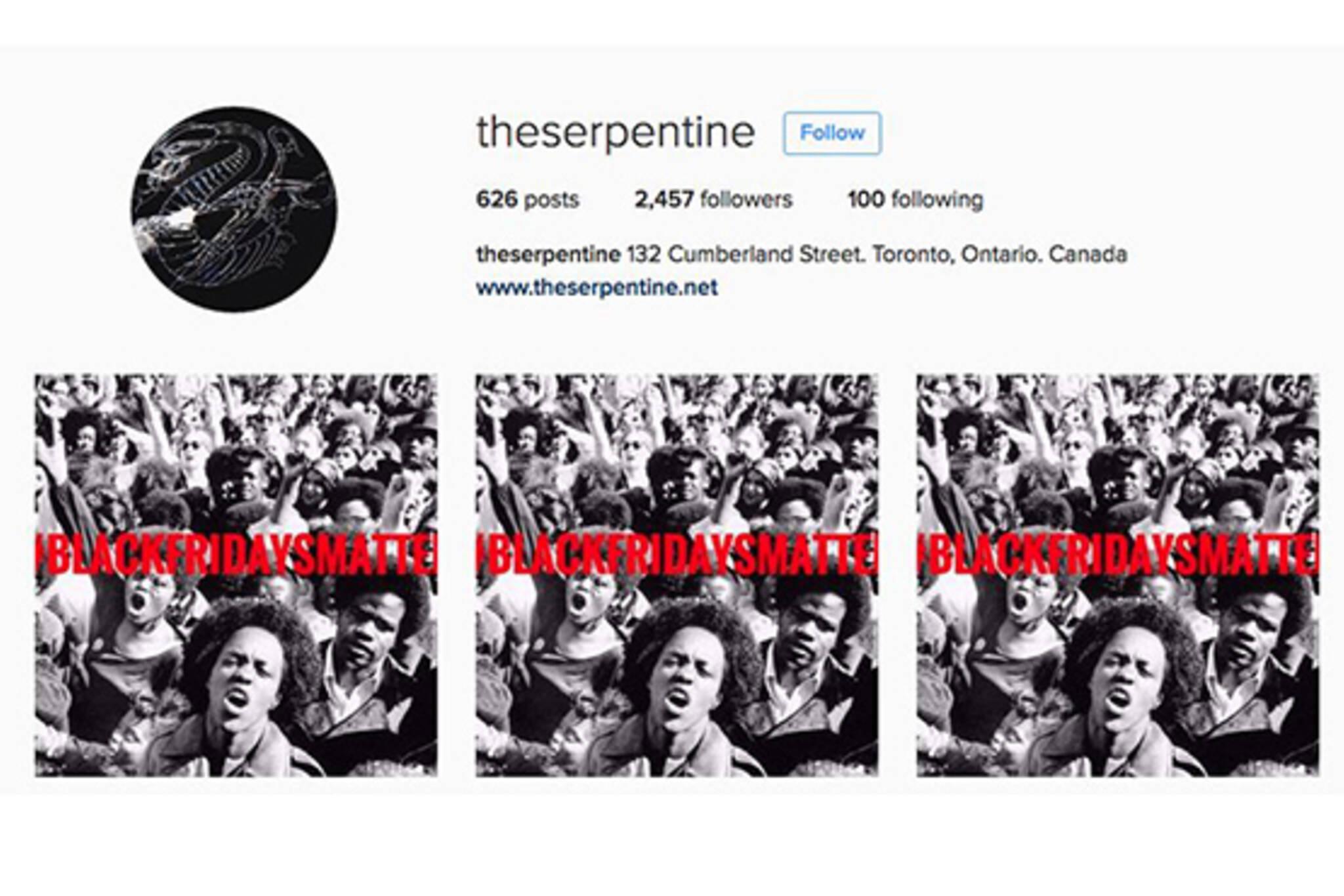 Serpentine Instagram