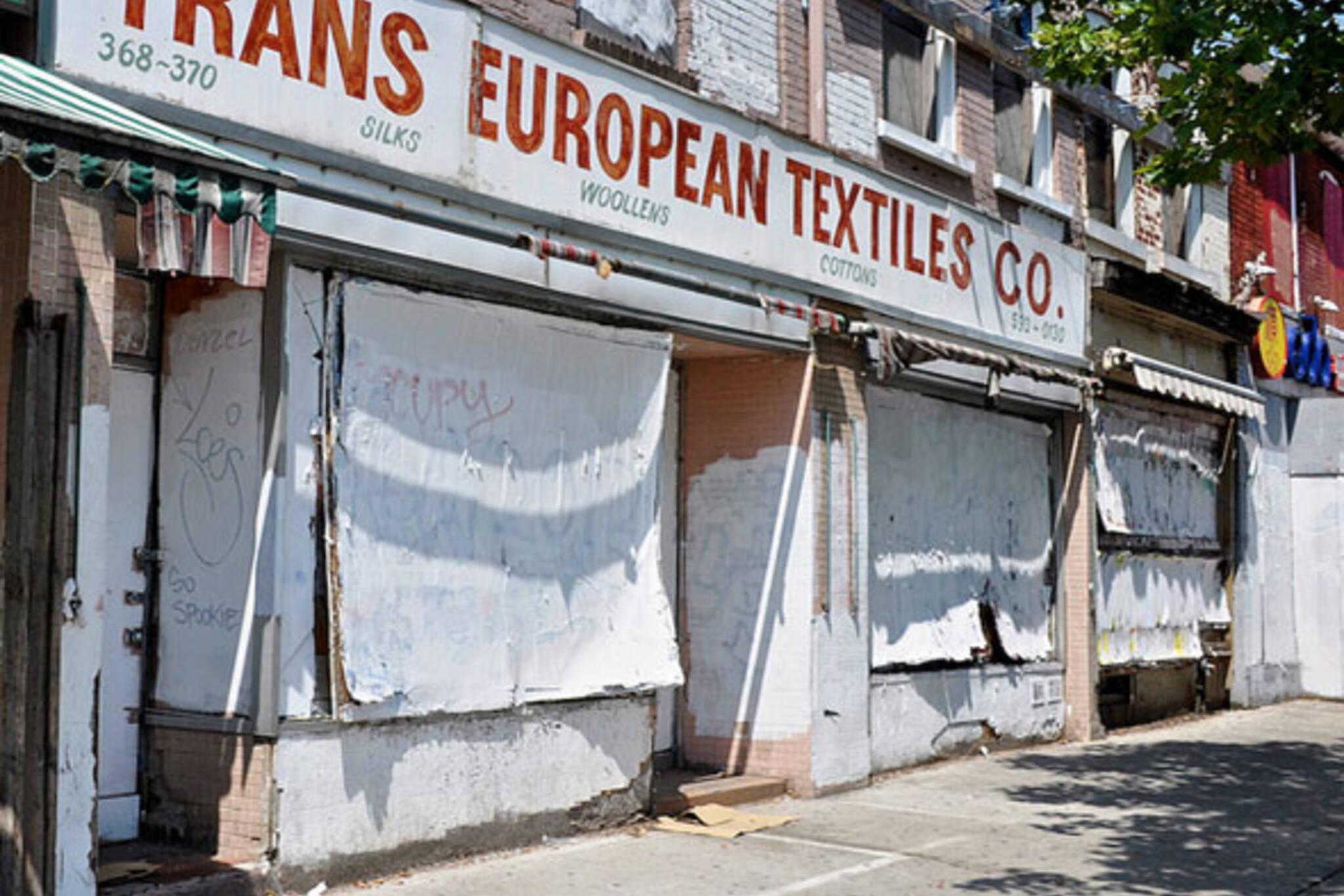 toronto spadina avenue trans european textiles