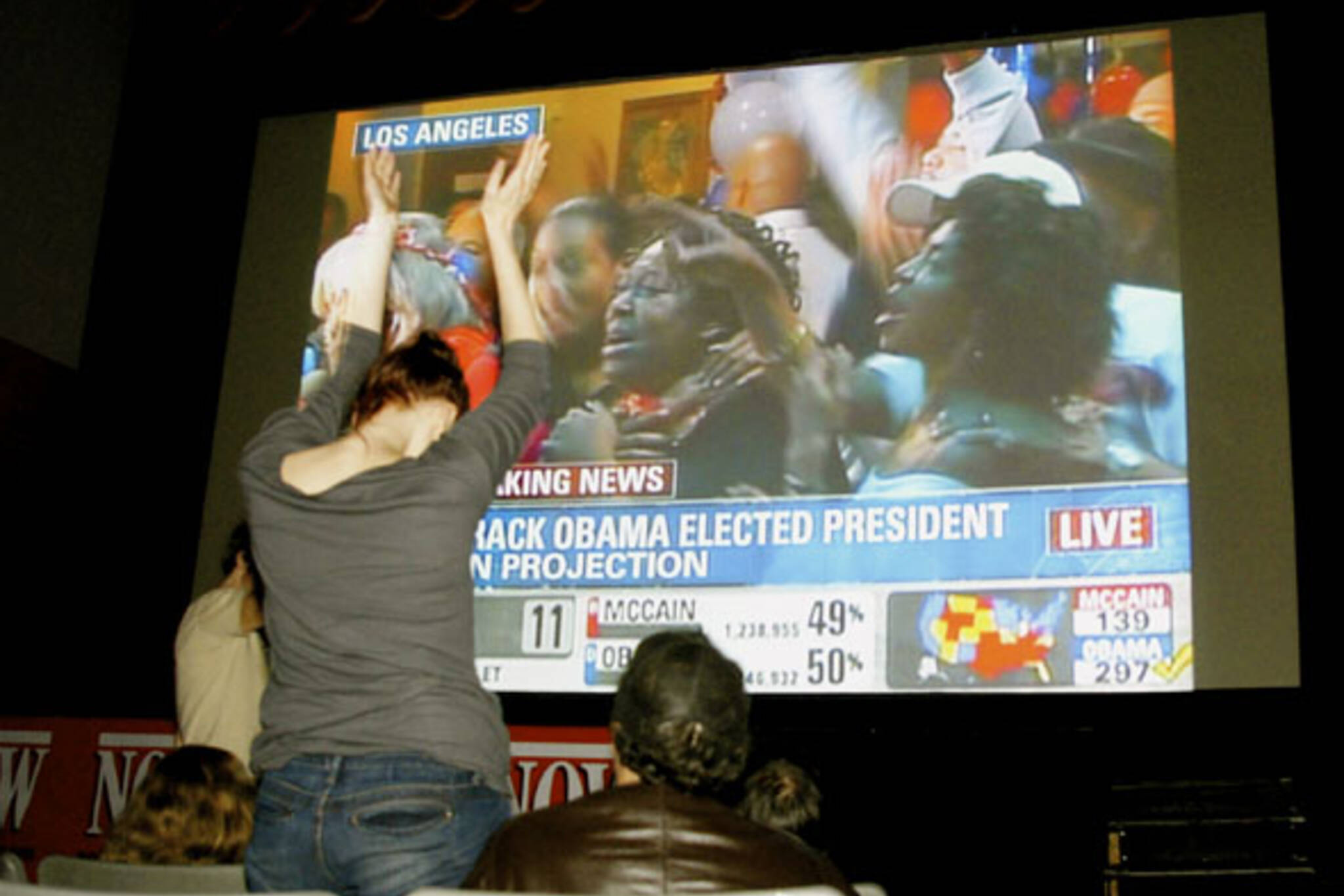 America Votes Obama party at The Bloor Cinema in Toronto