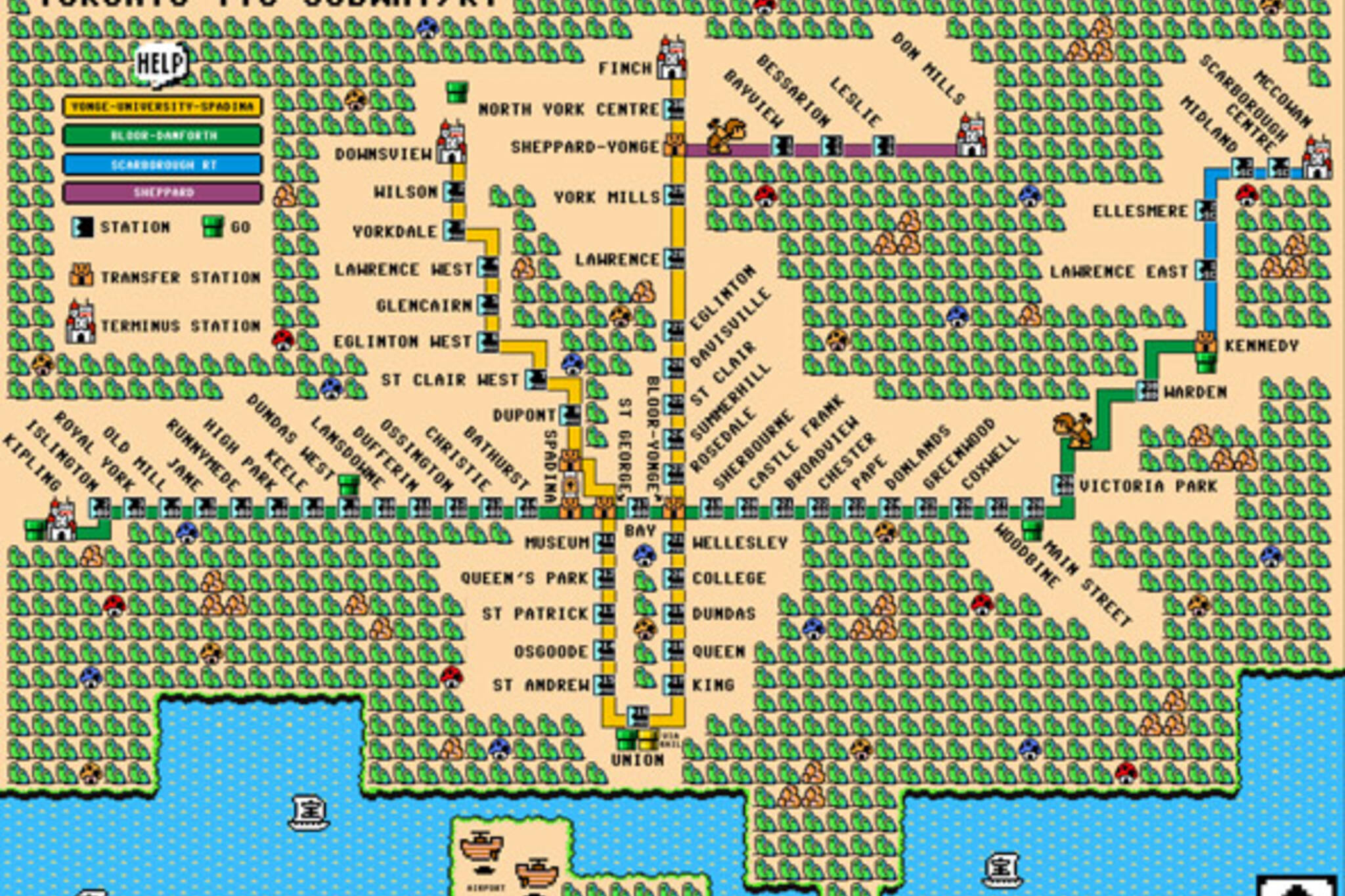 toronto ttc mario map