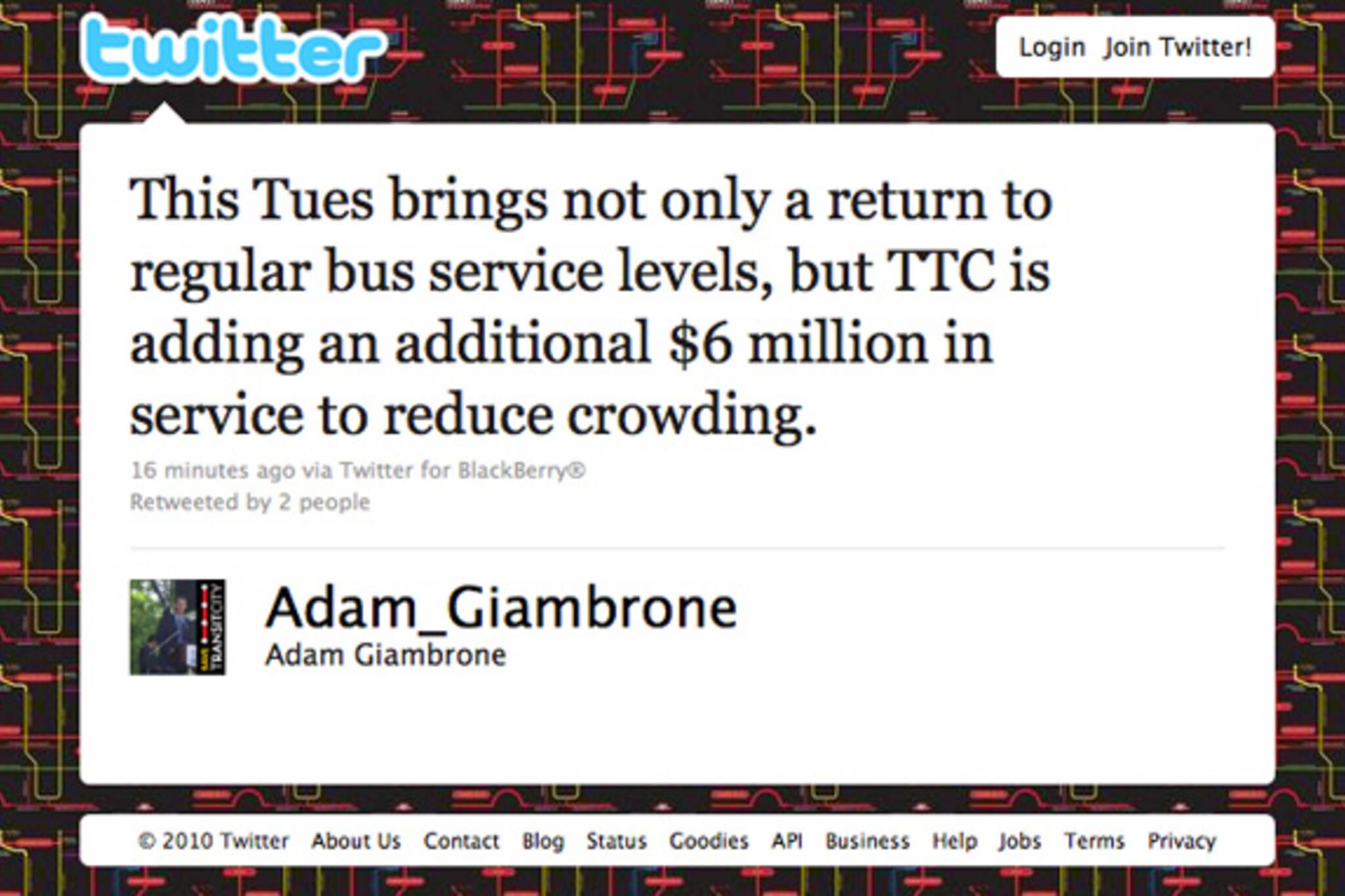 Adam Giambrone Twitter