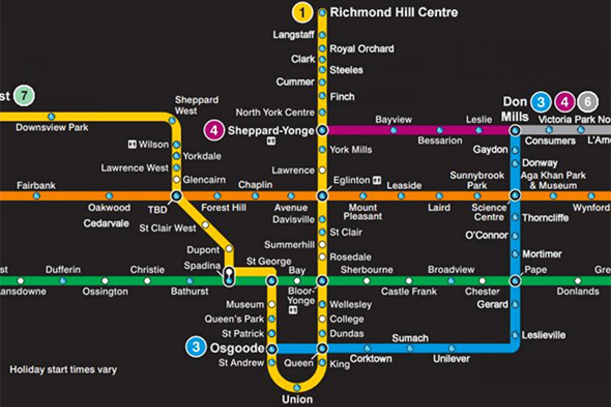 Toronto Ttc Subway Map.This Is What The Ttc Map Could Look Like In 2035