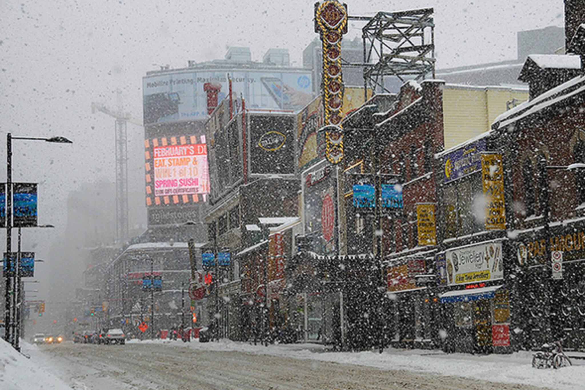 Snow Yonge Street