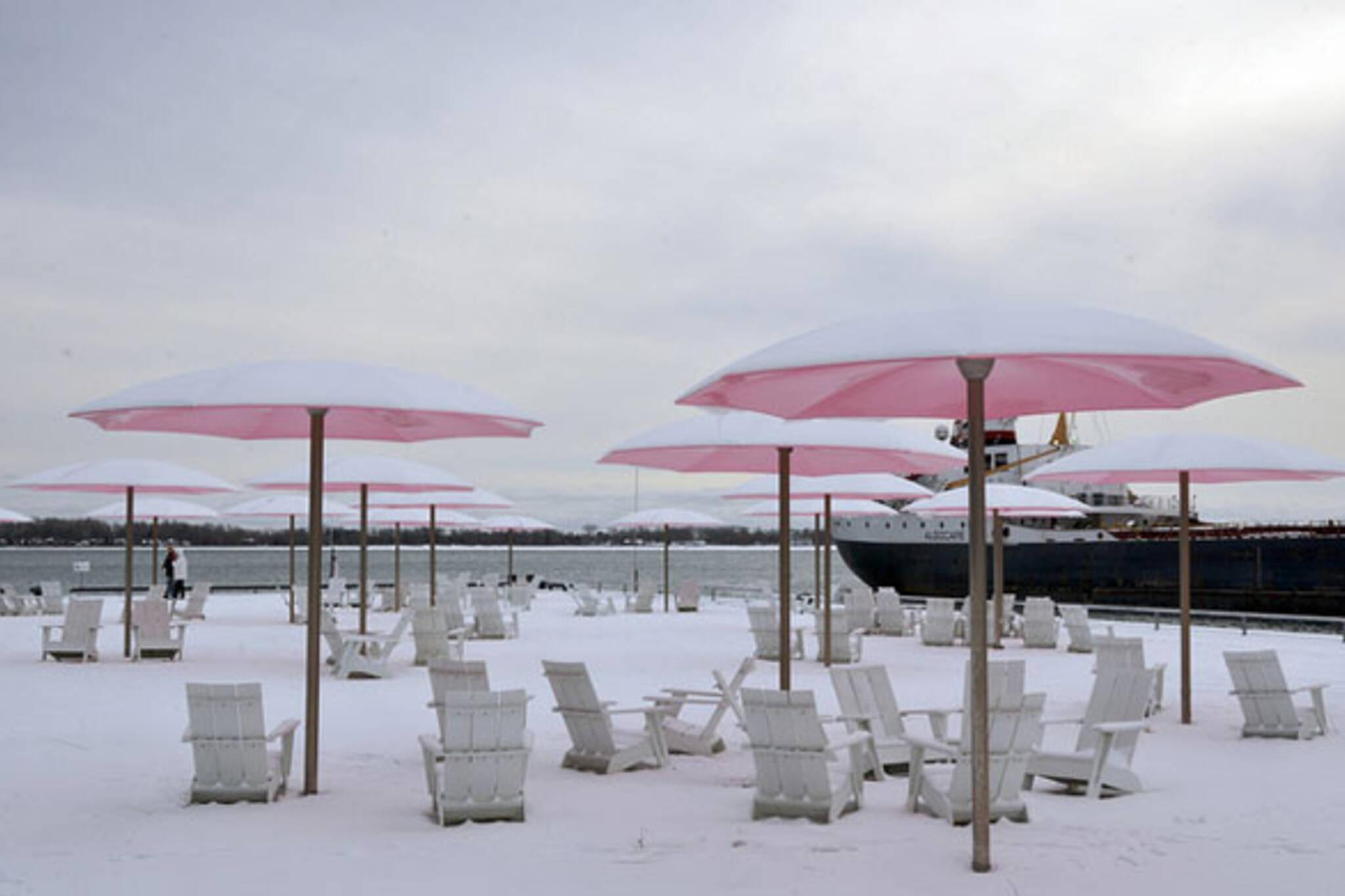 Snow Umbrellas
