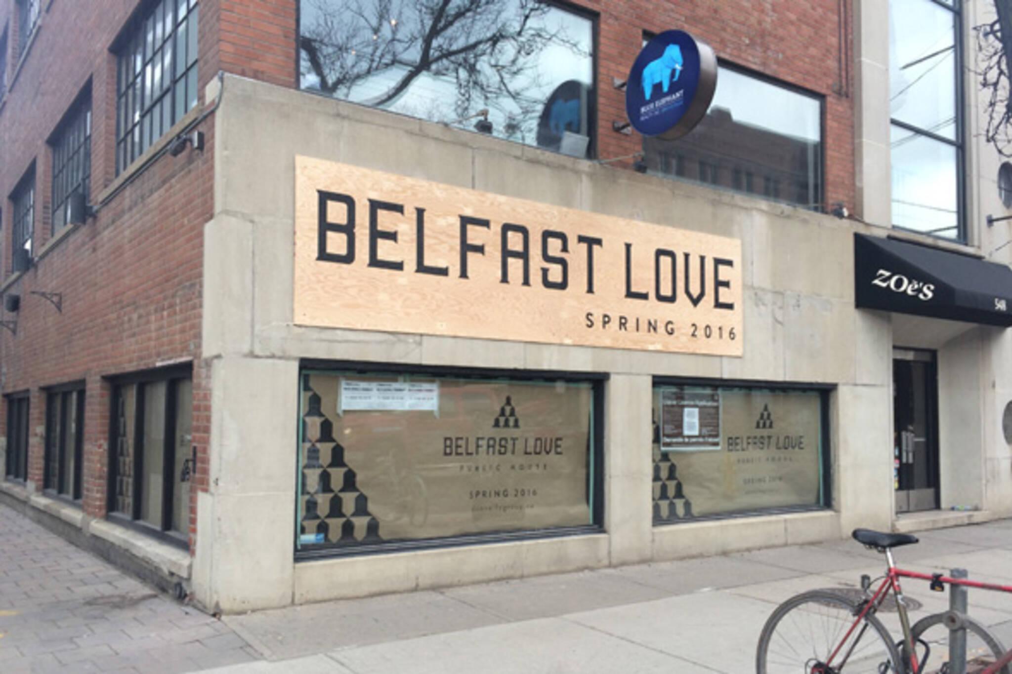 belfast love toronto
