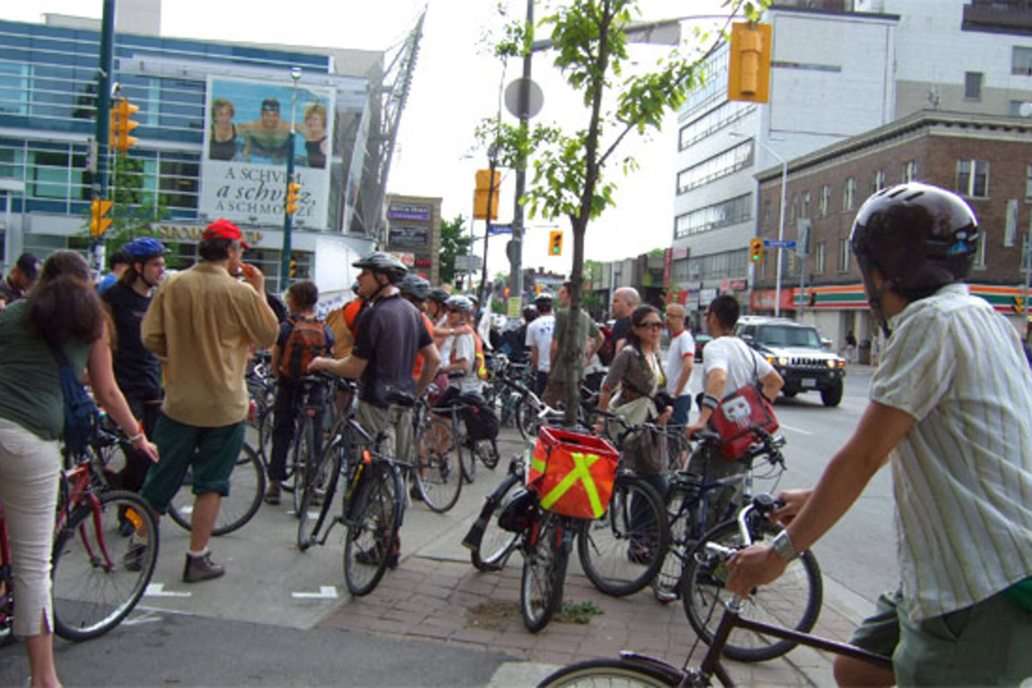 Critical Mass Gathers at Bloor & Spadina